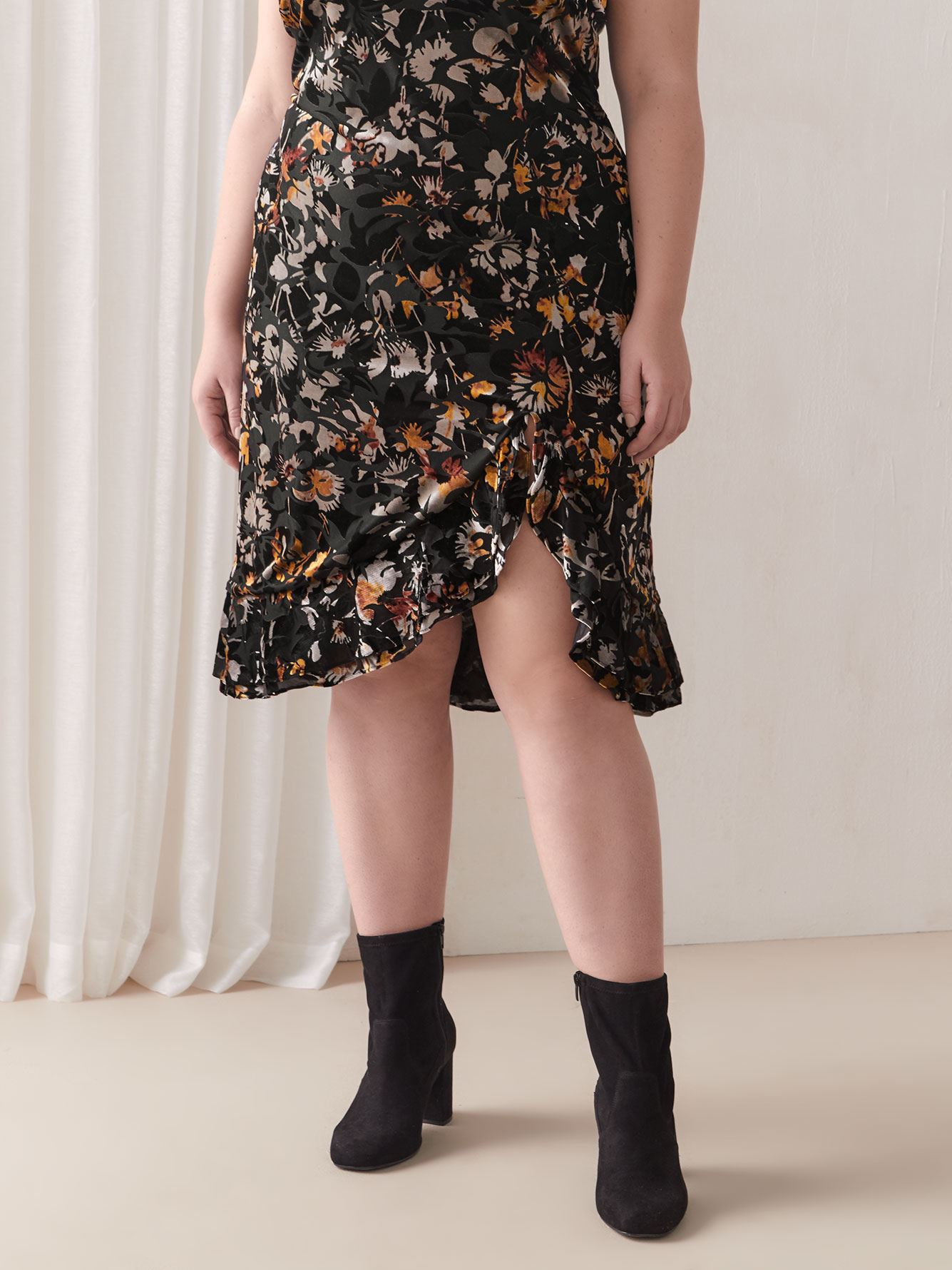 Floral Velvet Blythe Slip Dress - RACHEL Rachel Roy