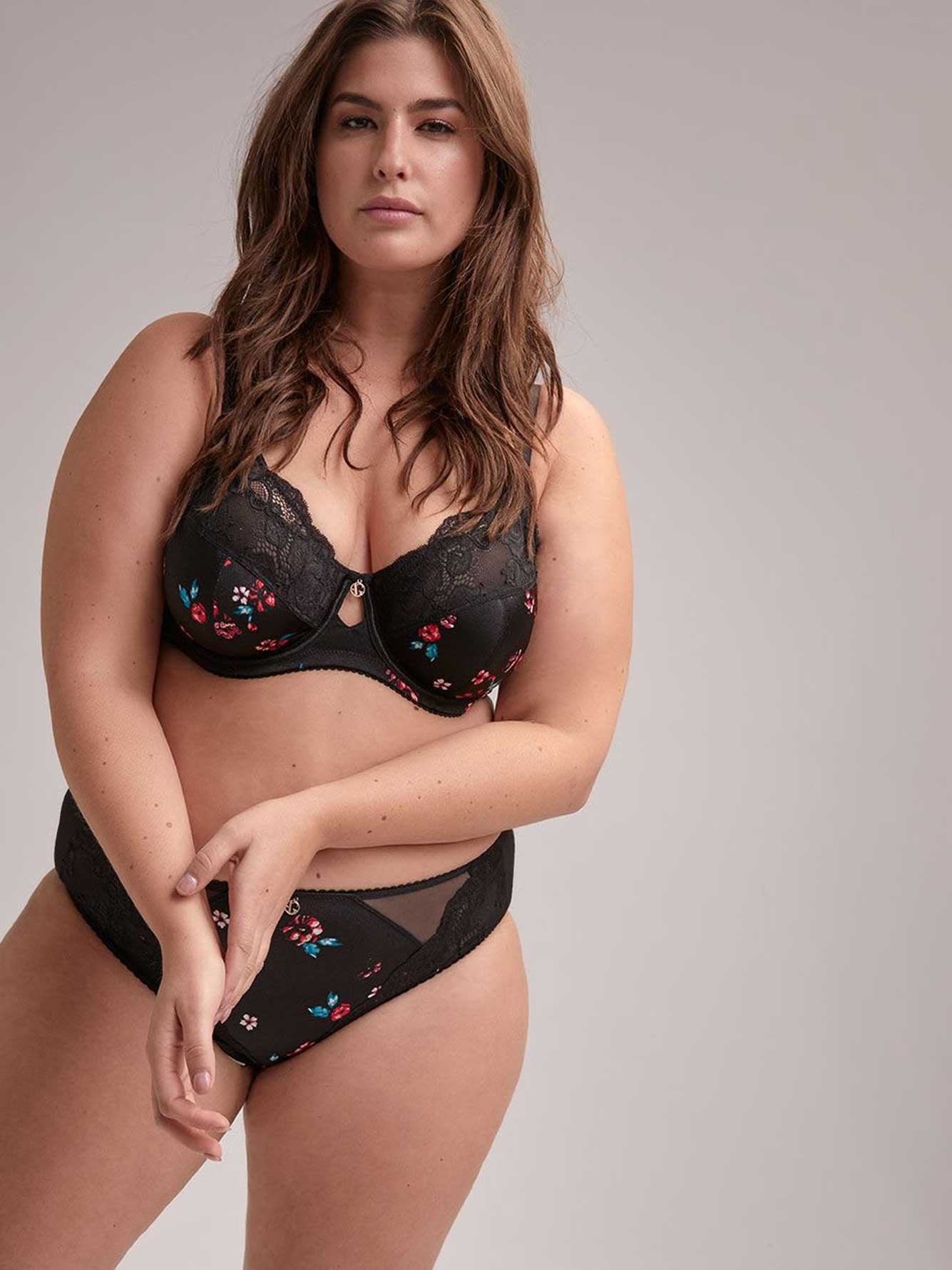 Fatal Attraction Bra with Print and Lace, Sizes G and H - Ashley Graham