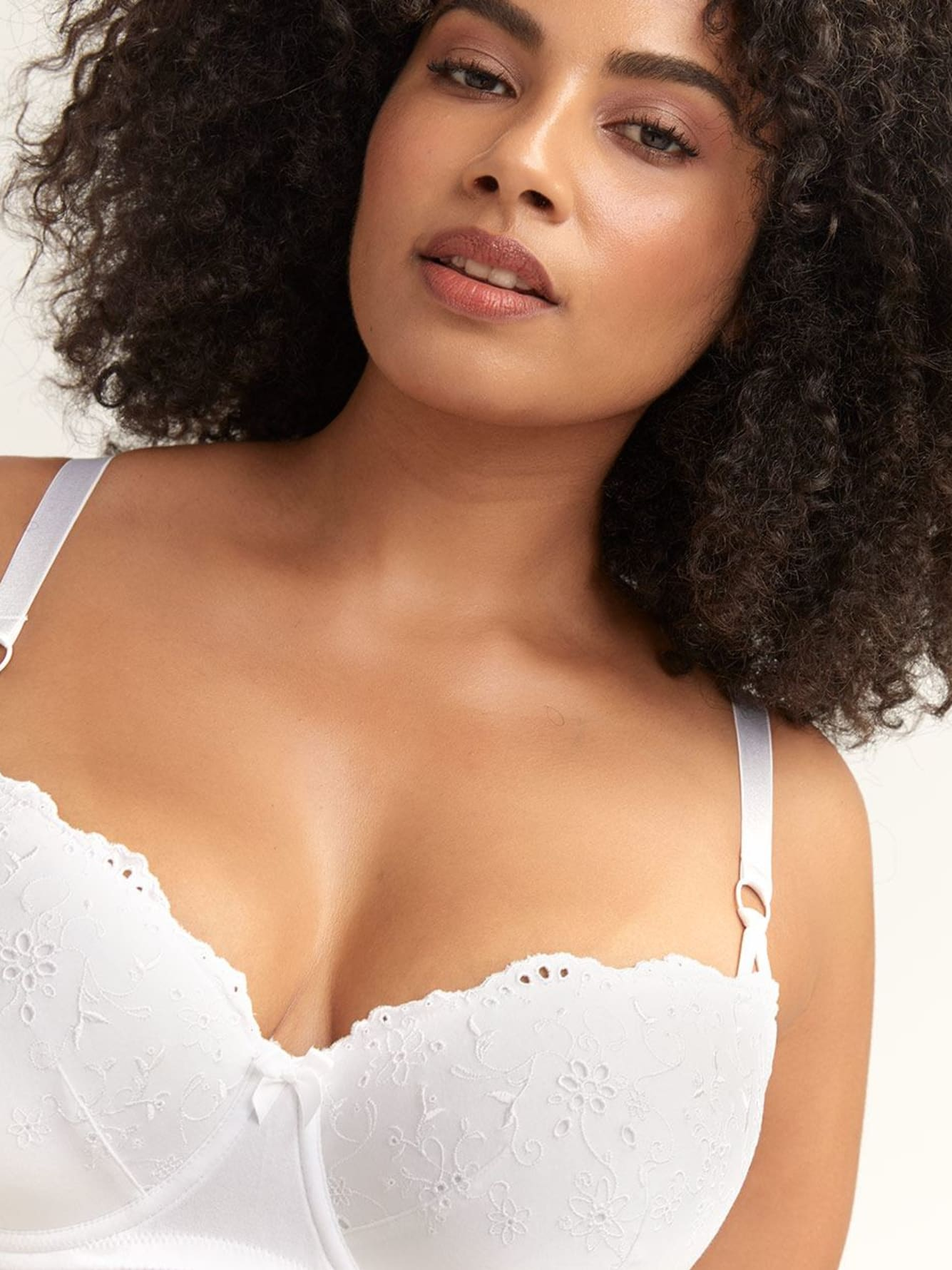 Balconette Eyelet Cotton Bra