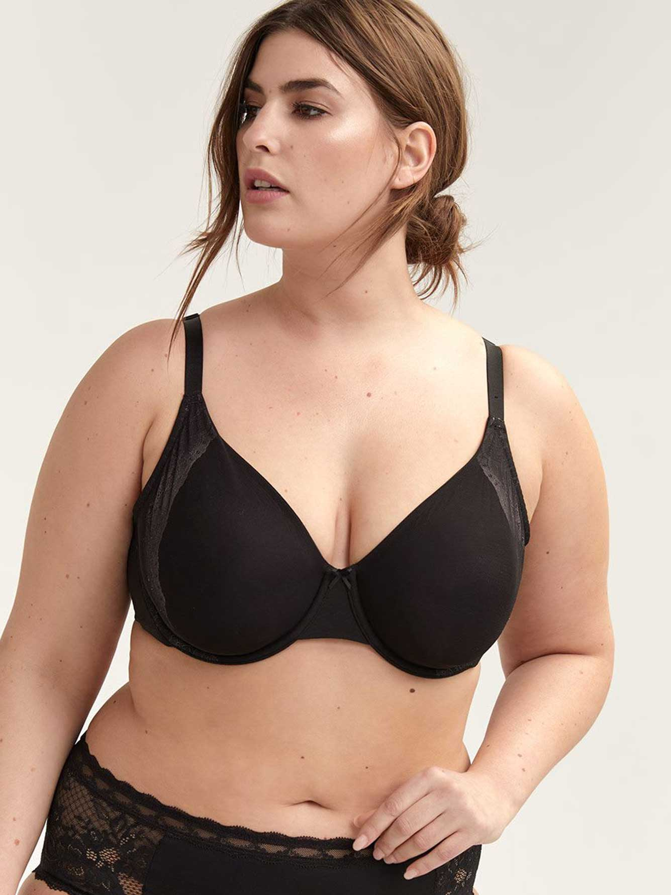 Unlined Underwire Bra with Lace - Déesse Collection