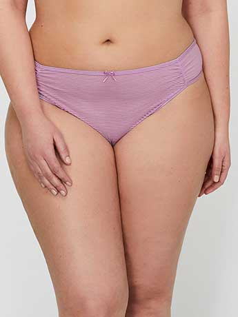 Ashley Graham Shadow Stripe Thong