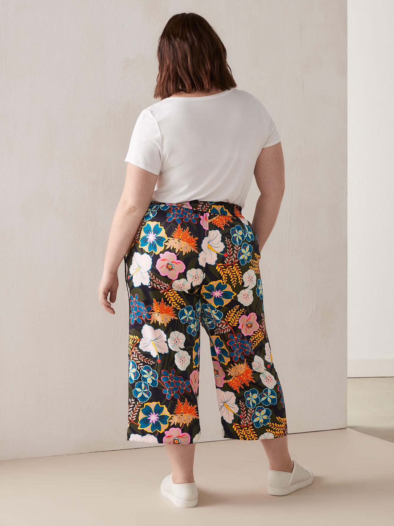 RACHEL Rachel Roy, Daria - Pantalon fleuri à jambe ample