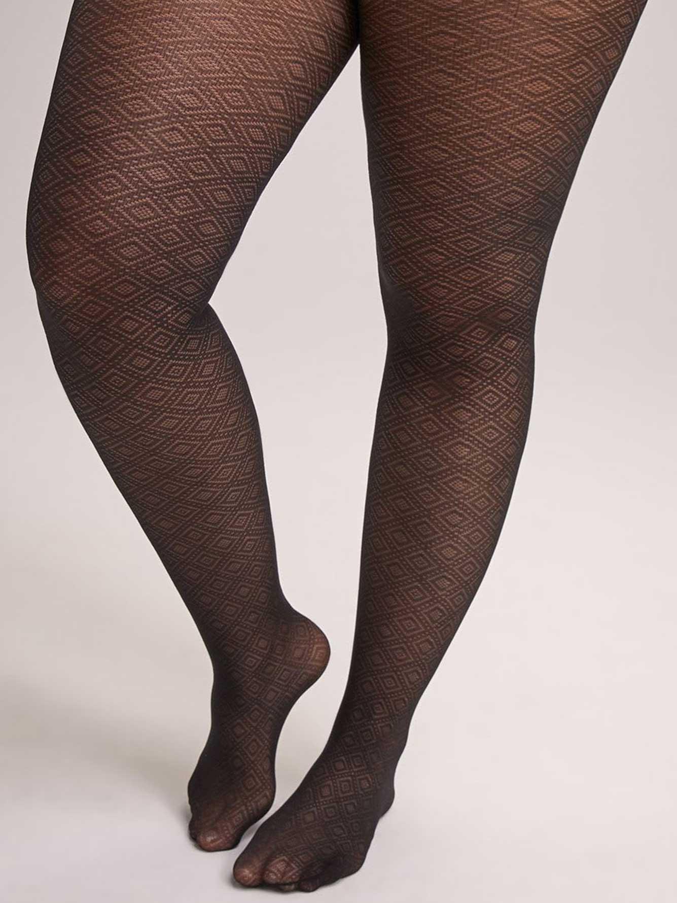 Geometric diamond tights