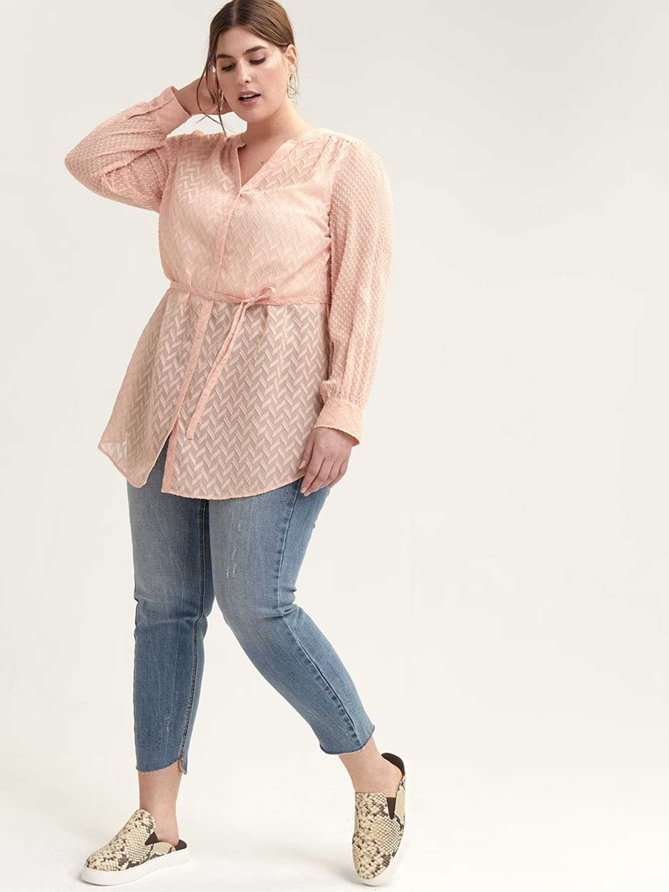 Button-Down Tunic Blouse - L&L