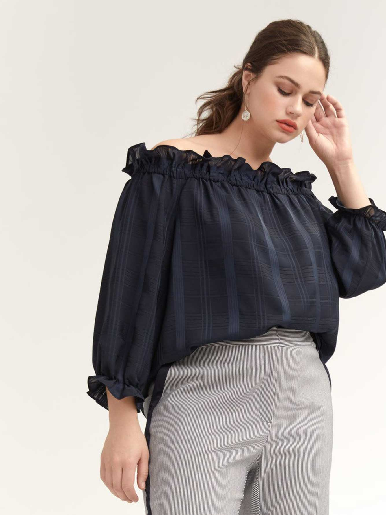 Off-the-Shoulder Isla Ruffle Top - RACHEL Rachel Roy