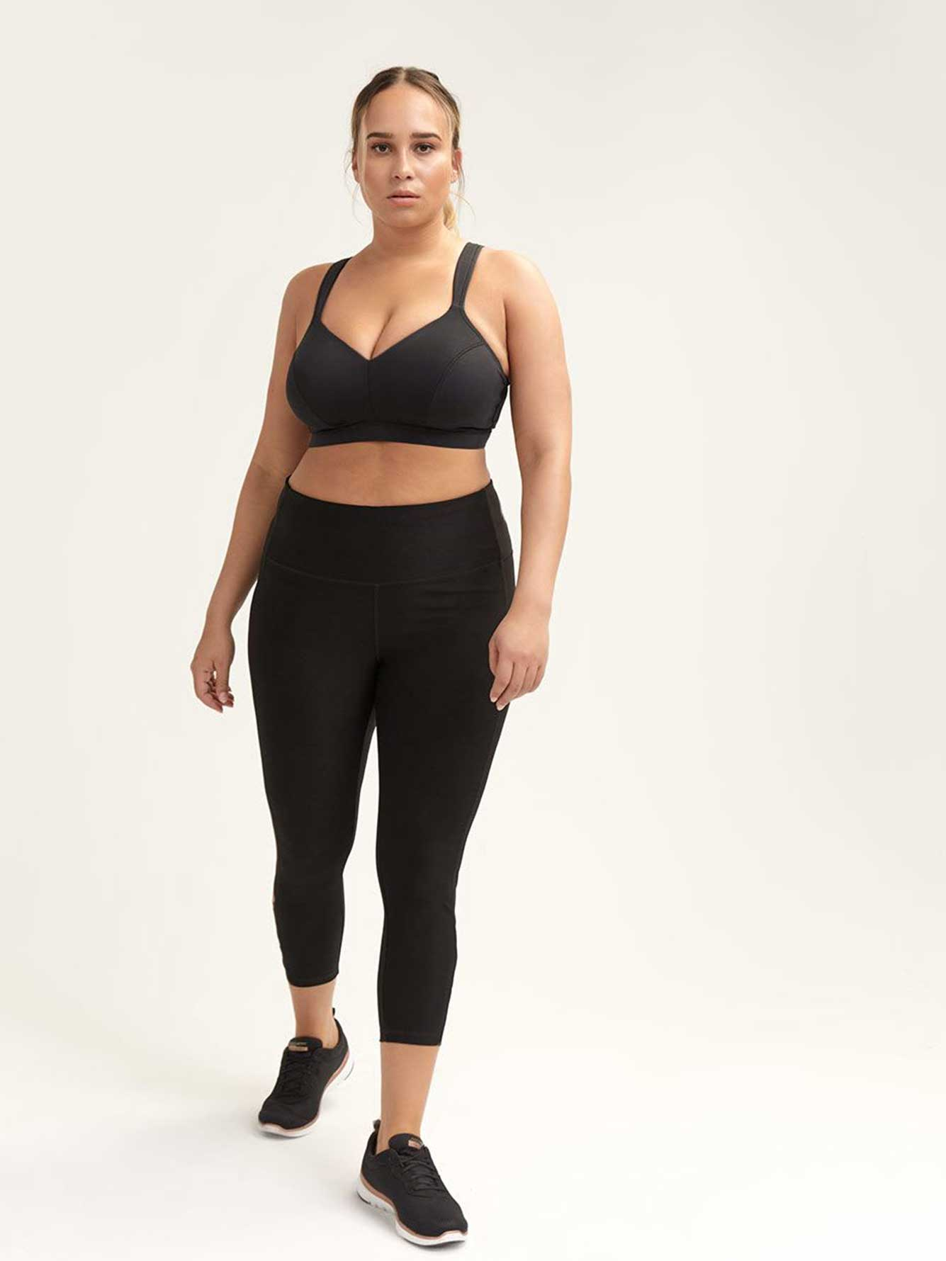 Black Legging with Mesh Inserts - Nola