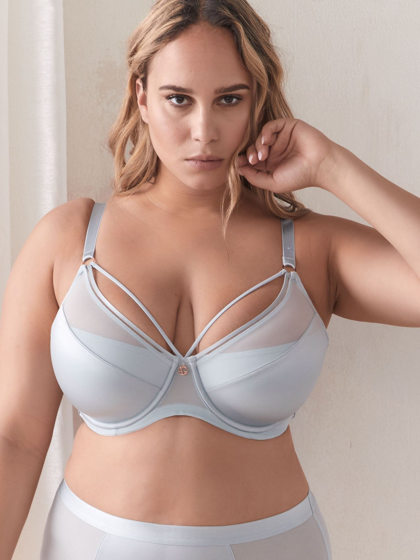 Demi Cup Diva Bra with Strap Detail - Ashley Graham