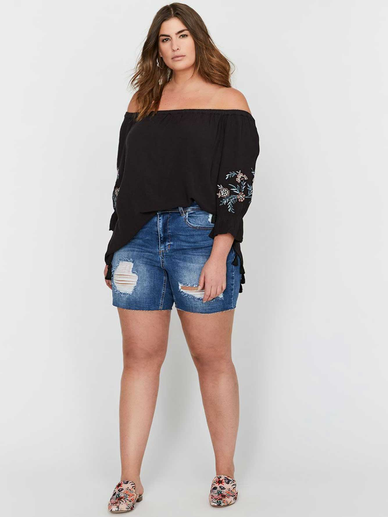 L&L Authentic Shorts with Rips & Raw Edge