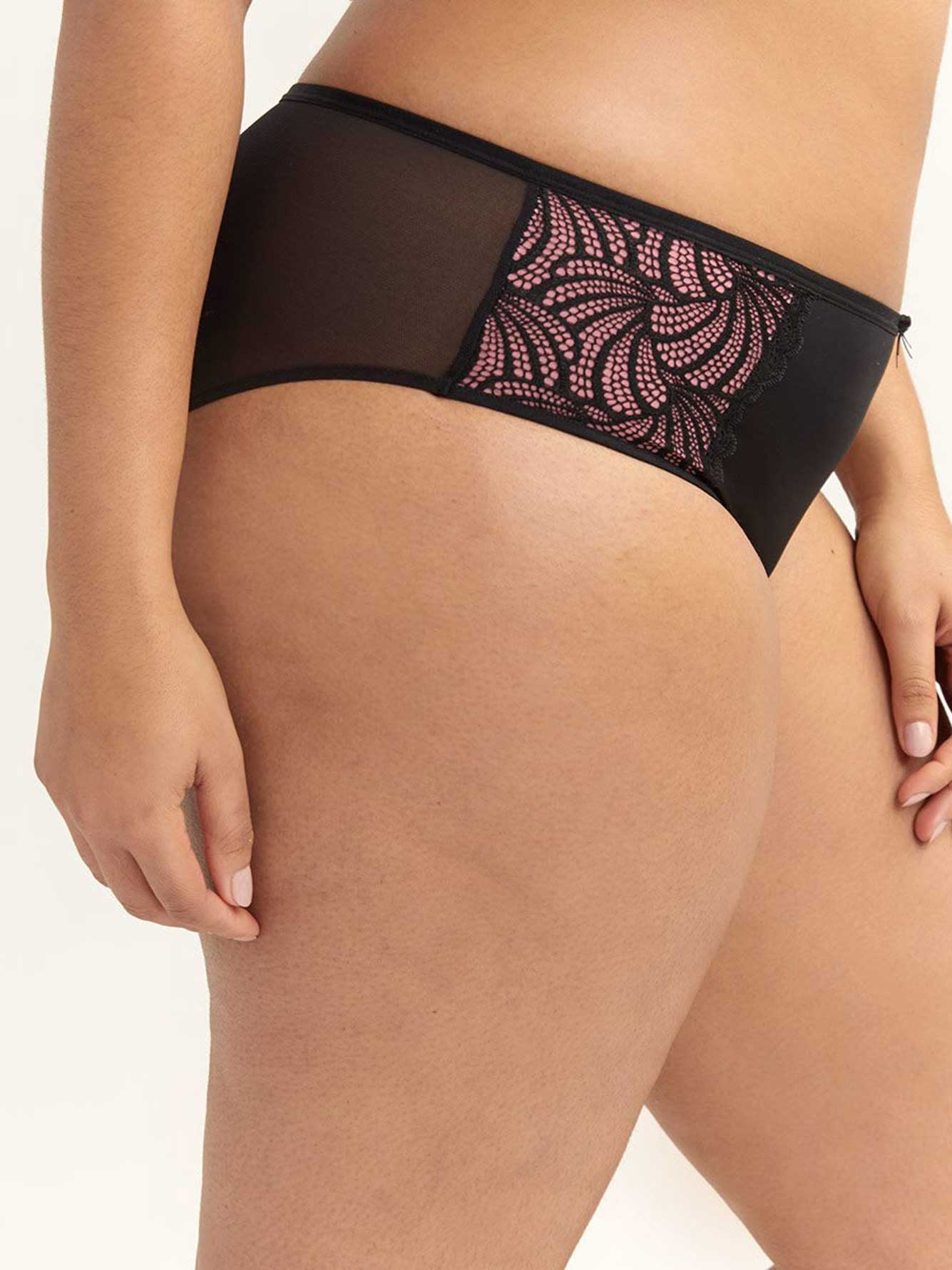 Lace Embellished High Cut Panty - Ashley Graham