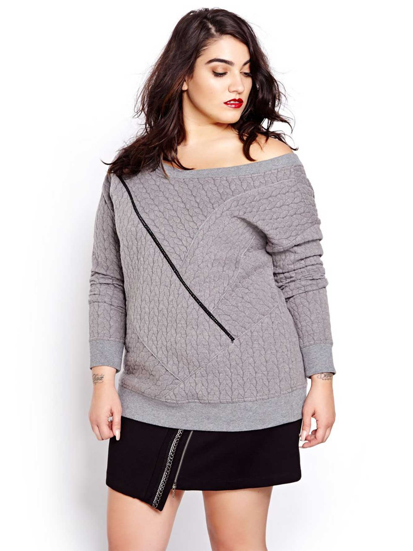 Nadia Aboulhosn Cable Knit Sweat Shirt for L&L