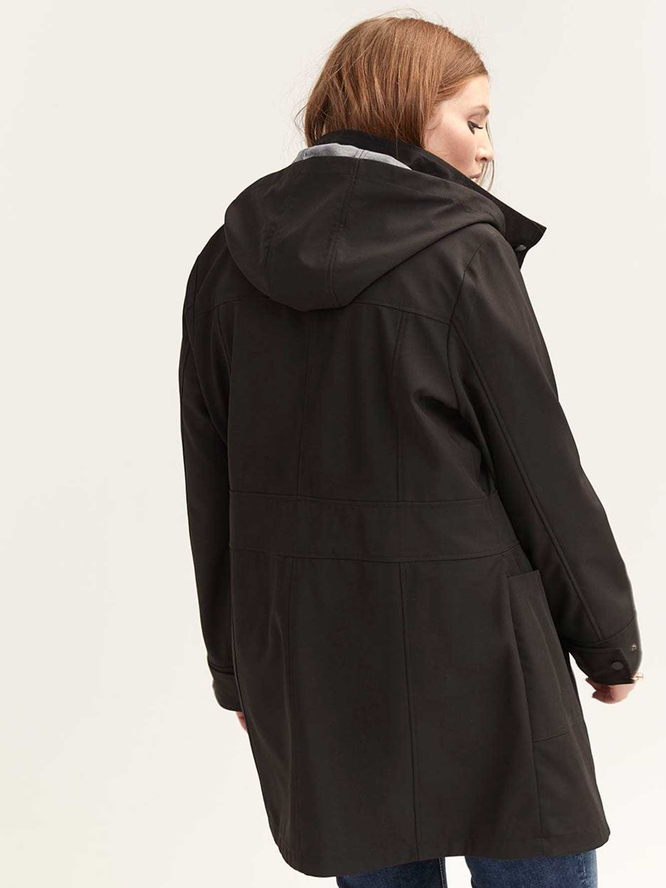 Soft-Shell Jacket with Removable Hood - Michel Studio