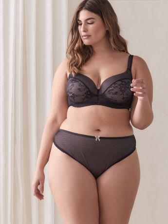 Contour Bra with Lace and Mesh - Déesse Collection