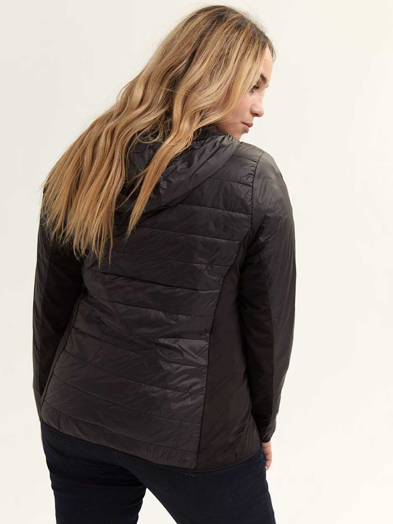 Mix Media Packable Travel Jacket - Nola