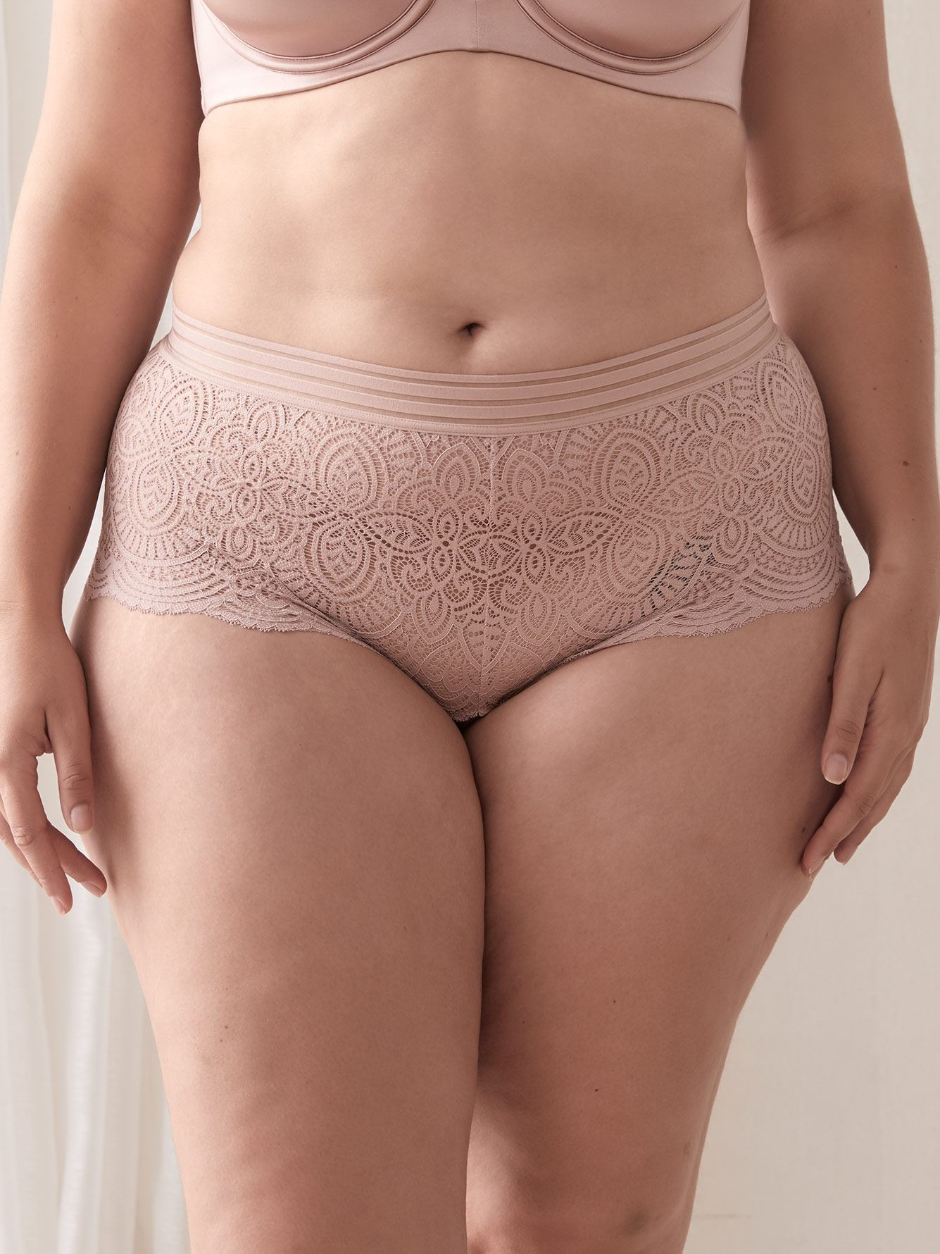 Ashley Graham - Solid Lace Boyshort Panty