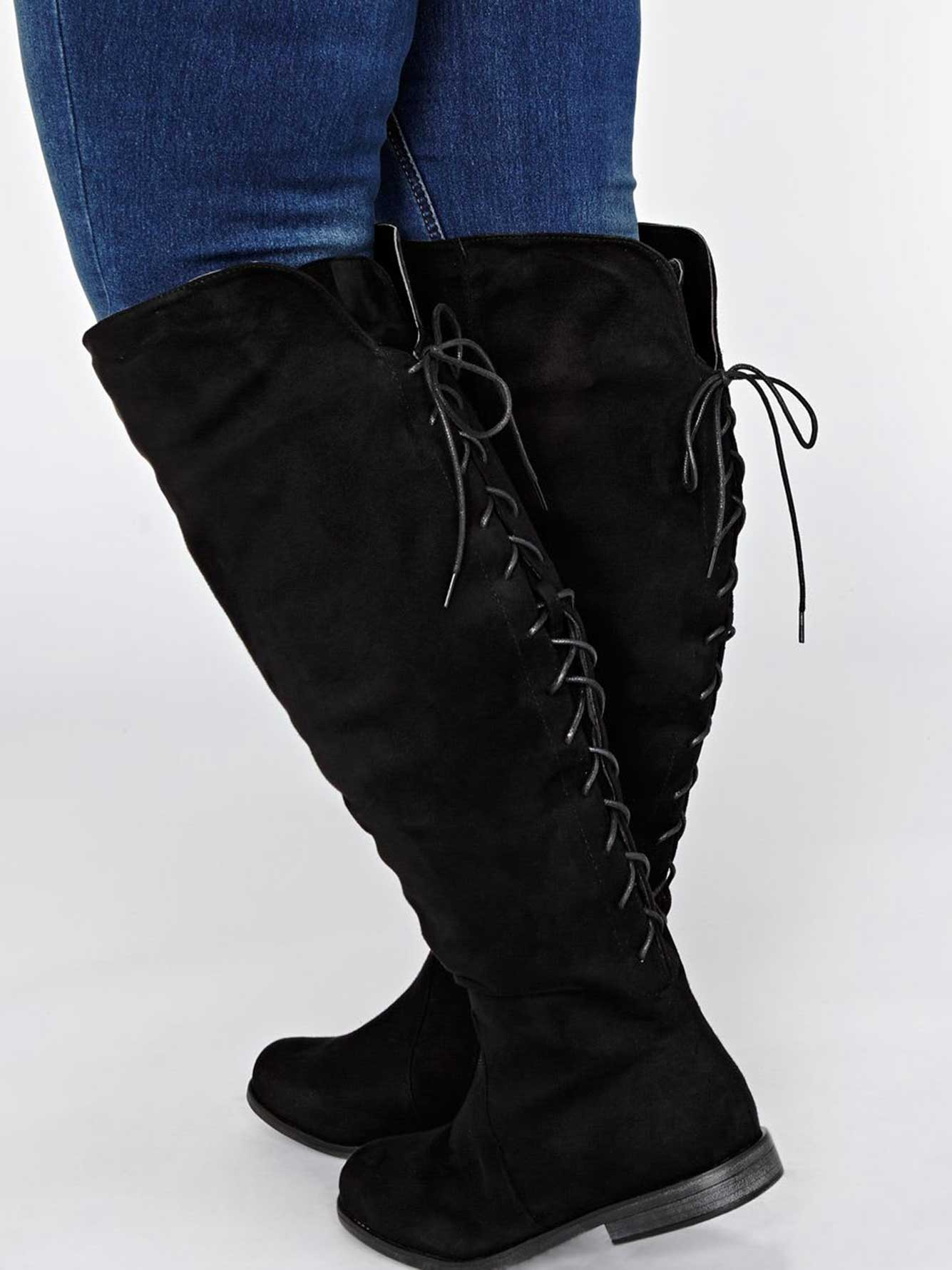 Nathalie Over the Knee Lace-Up Boot
