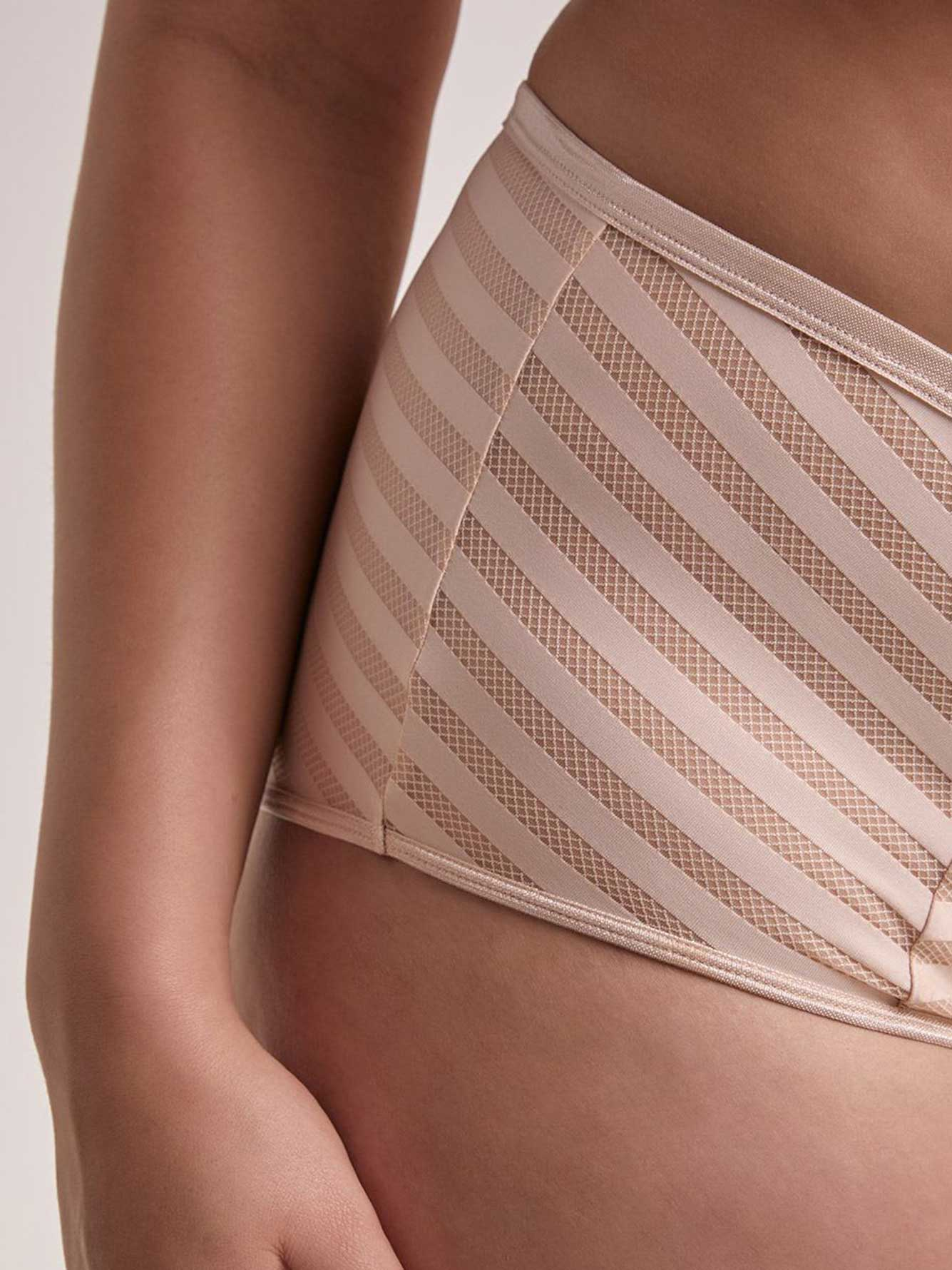 Basic Shadow Stripe Full Brief - Déesse Collection