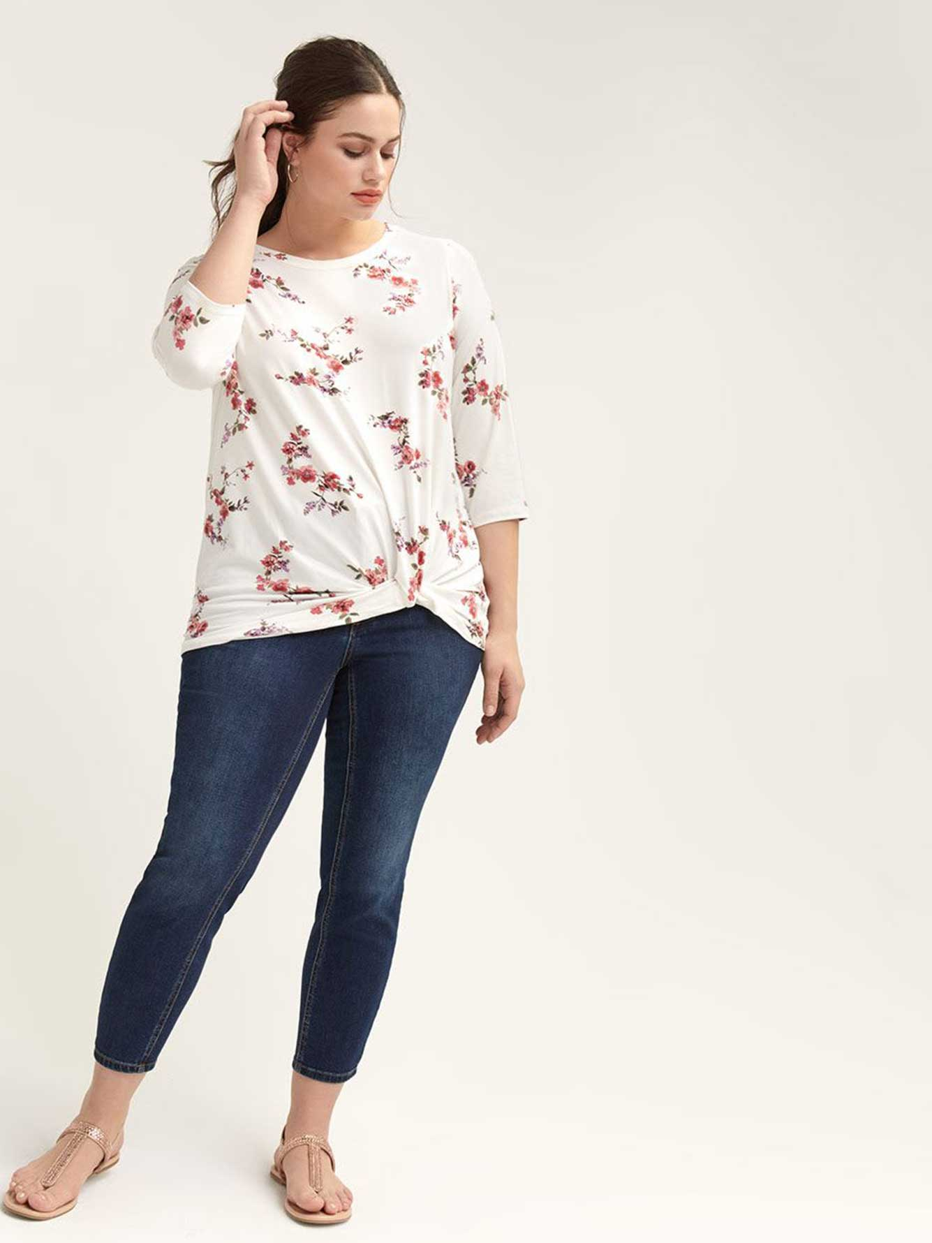 Floral Twist-Front Top