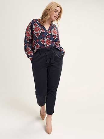High Waist Belted Chino Pant - L&L