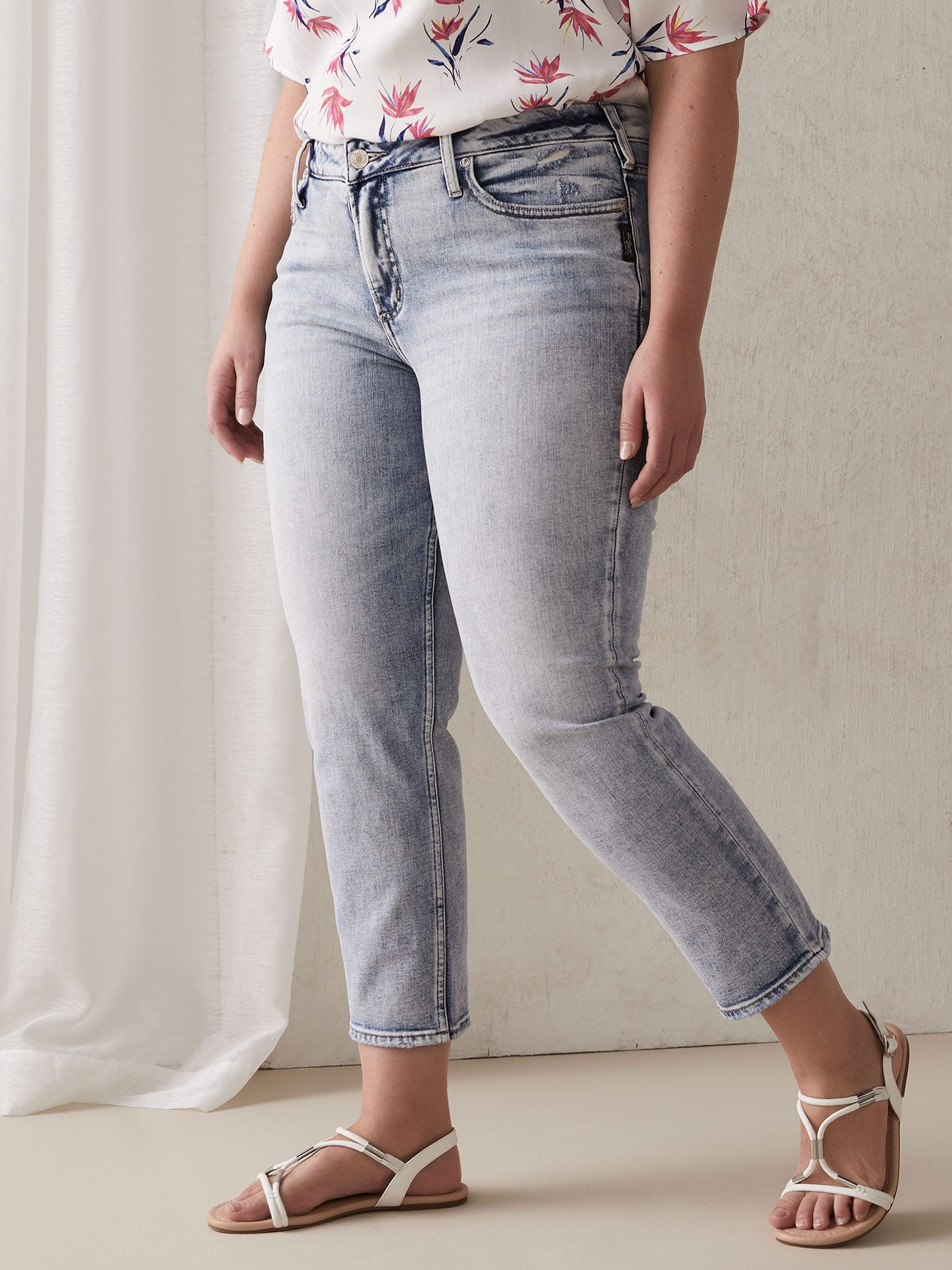Slim Cropped Elyse Denim - Silver Jeans