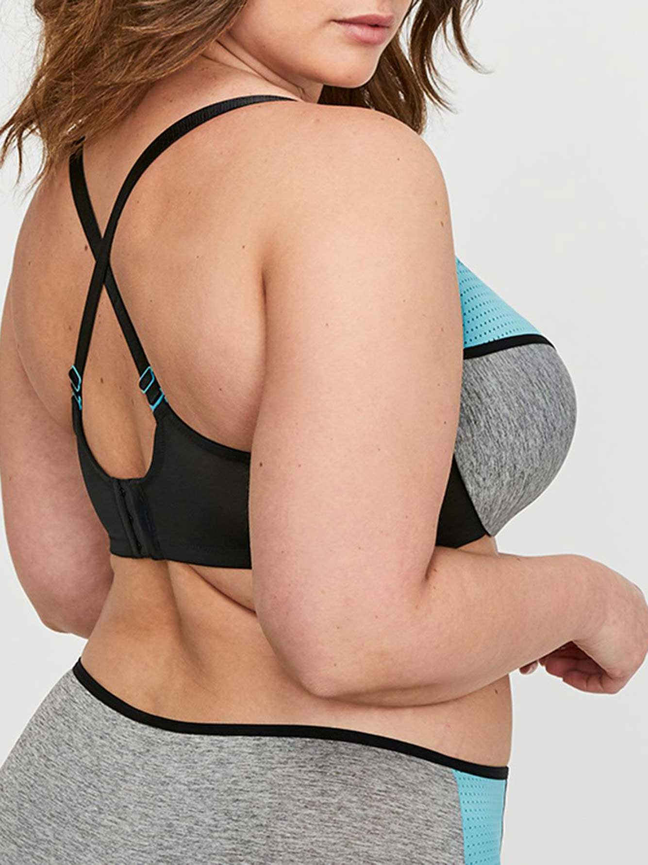 Grey Base with Mesh Flawless T-Ser Bra - Déesse Collection