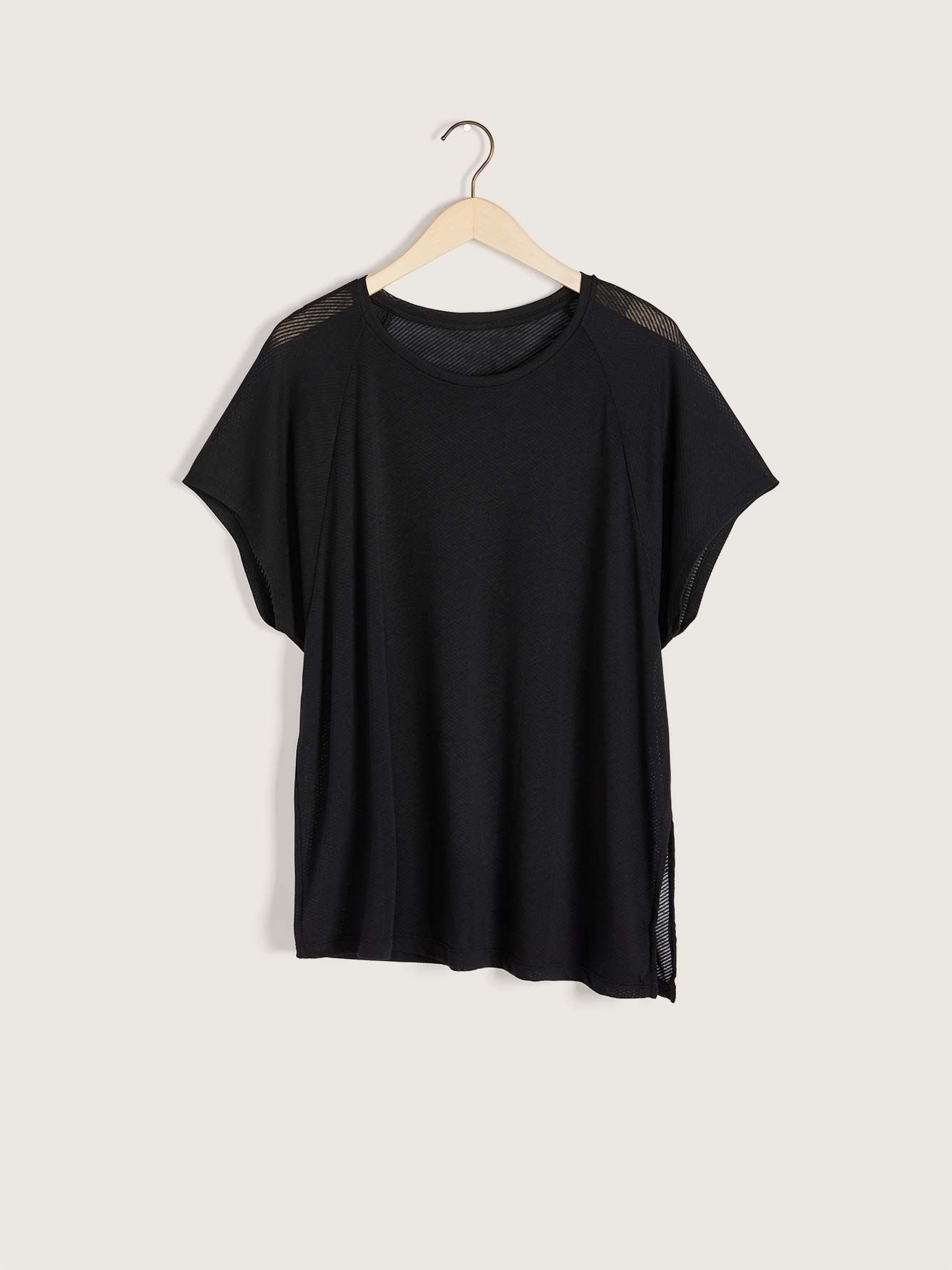 Black Burnout T-Shirt- Reebok