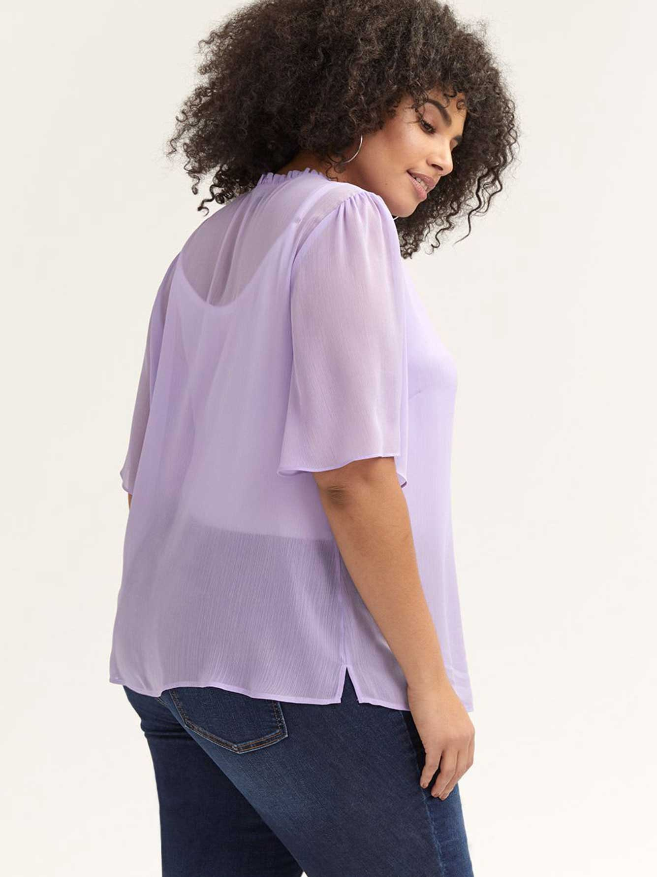 Flutter Sleeve Blouse - Michel Studio