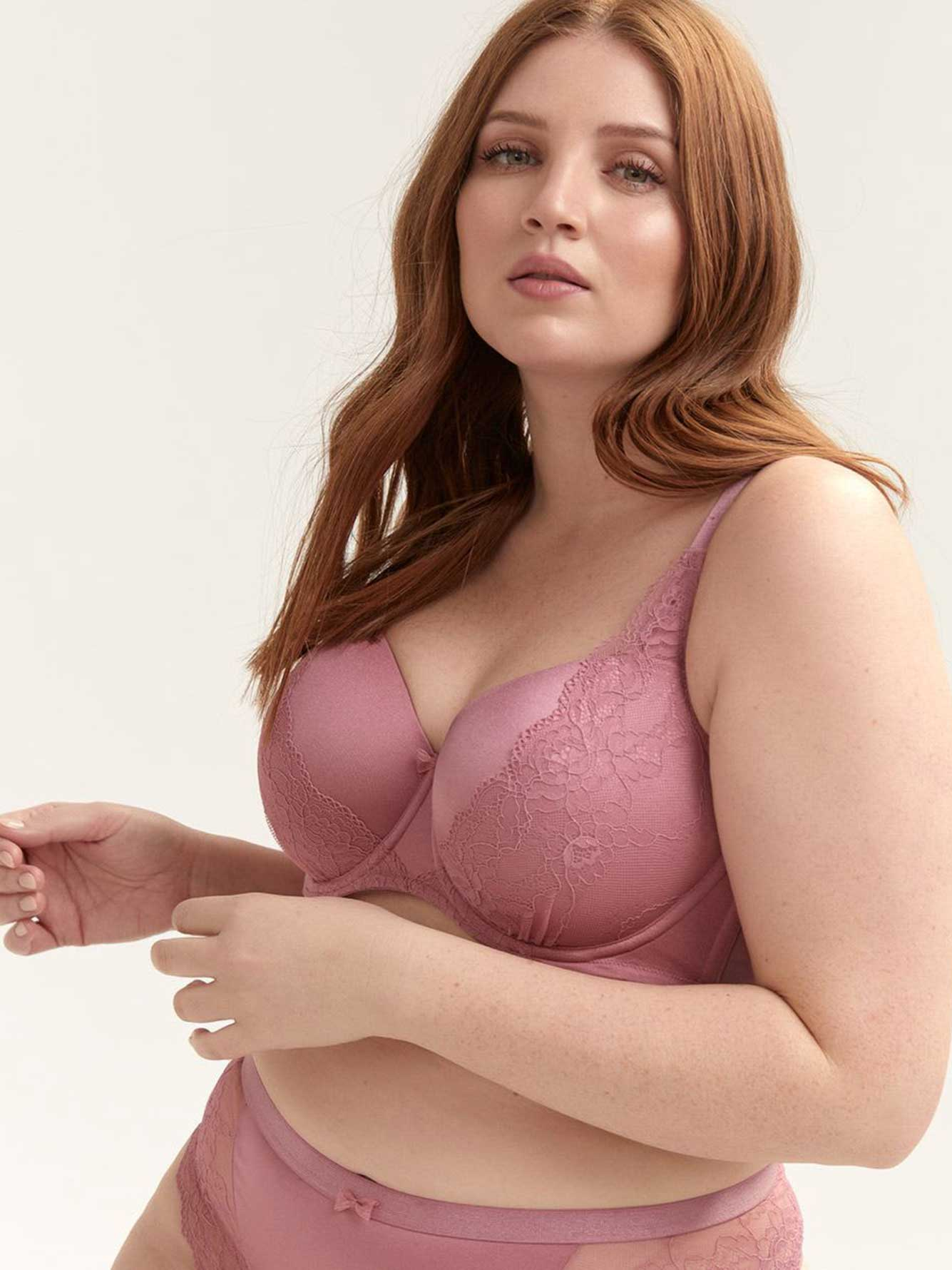 Balconette Bra with Cross Dye Lace - Déesse Collection