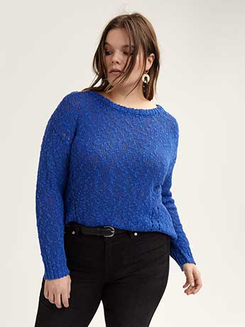 Pointelle Boat-Neck Sweater - L&L