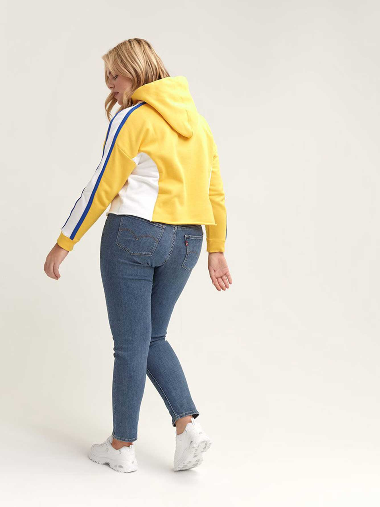 Levi's Yellow Cropped Hoodie