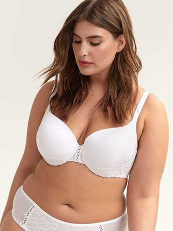 Textured Thin Microfibre Bra - Ashley Graham