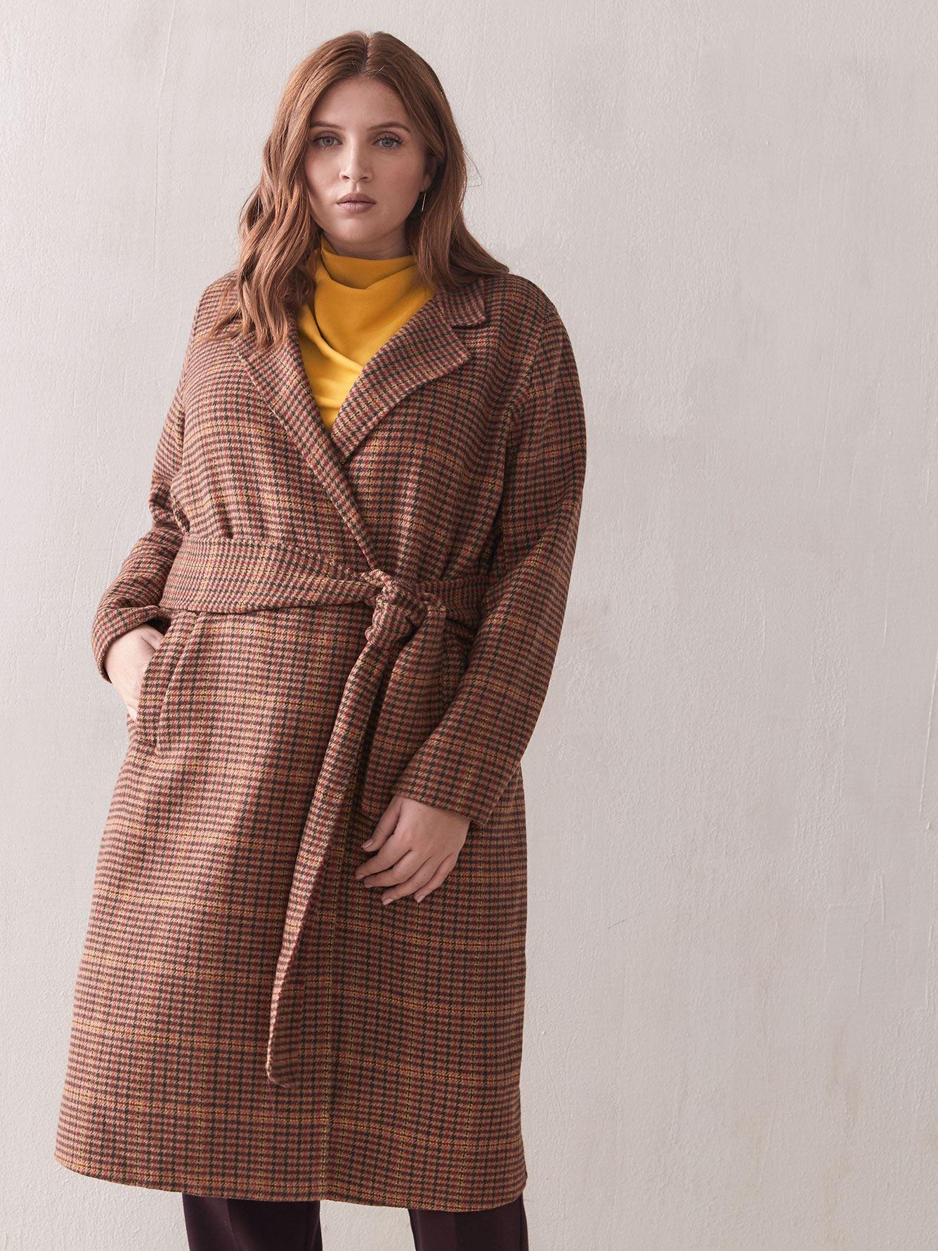 Joie Multi-Houndstooth Overcoat - Sosken