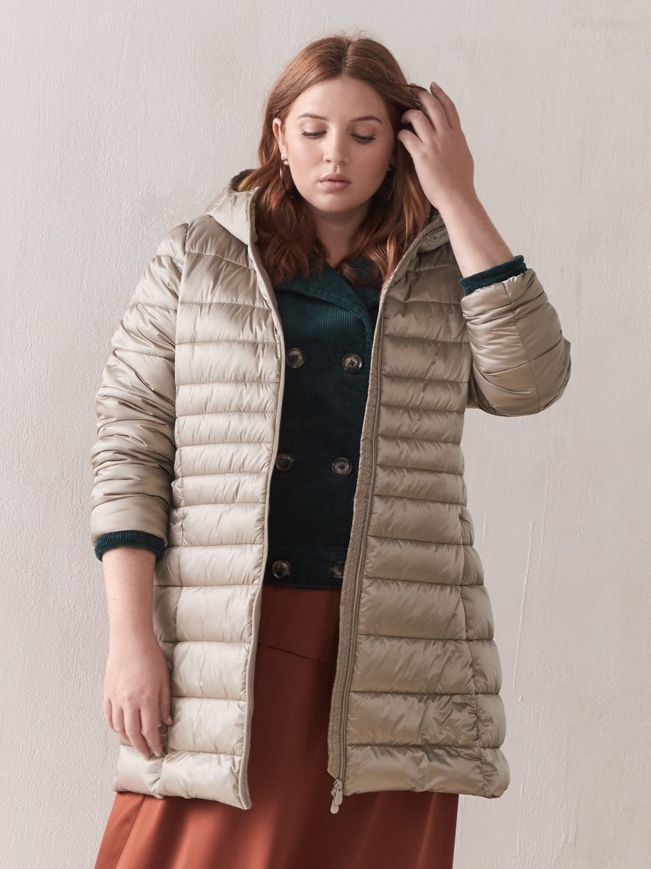 cheap for discount bfe1f 4ebd8 Quilted Packable Iris Long Puffer - Save the Duck