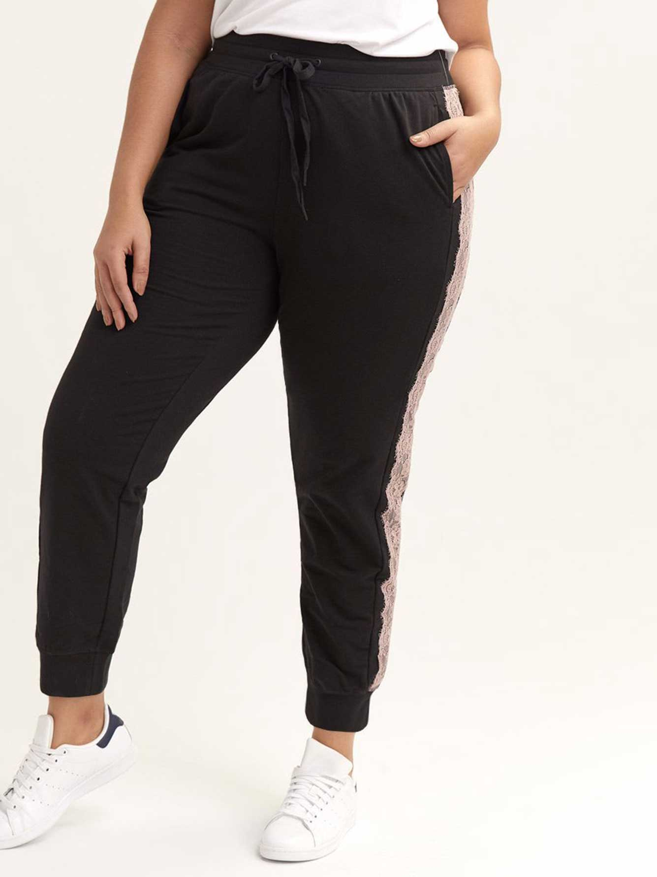 Joggers with Lace Applique - Nola