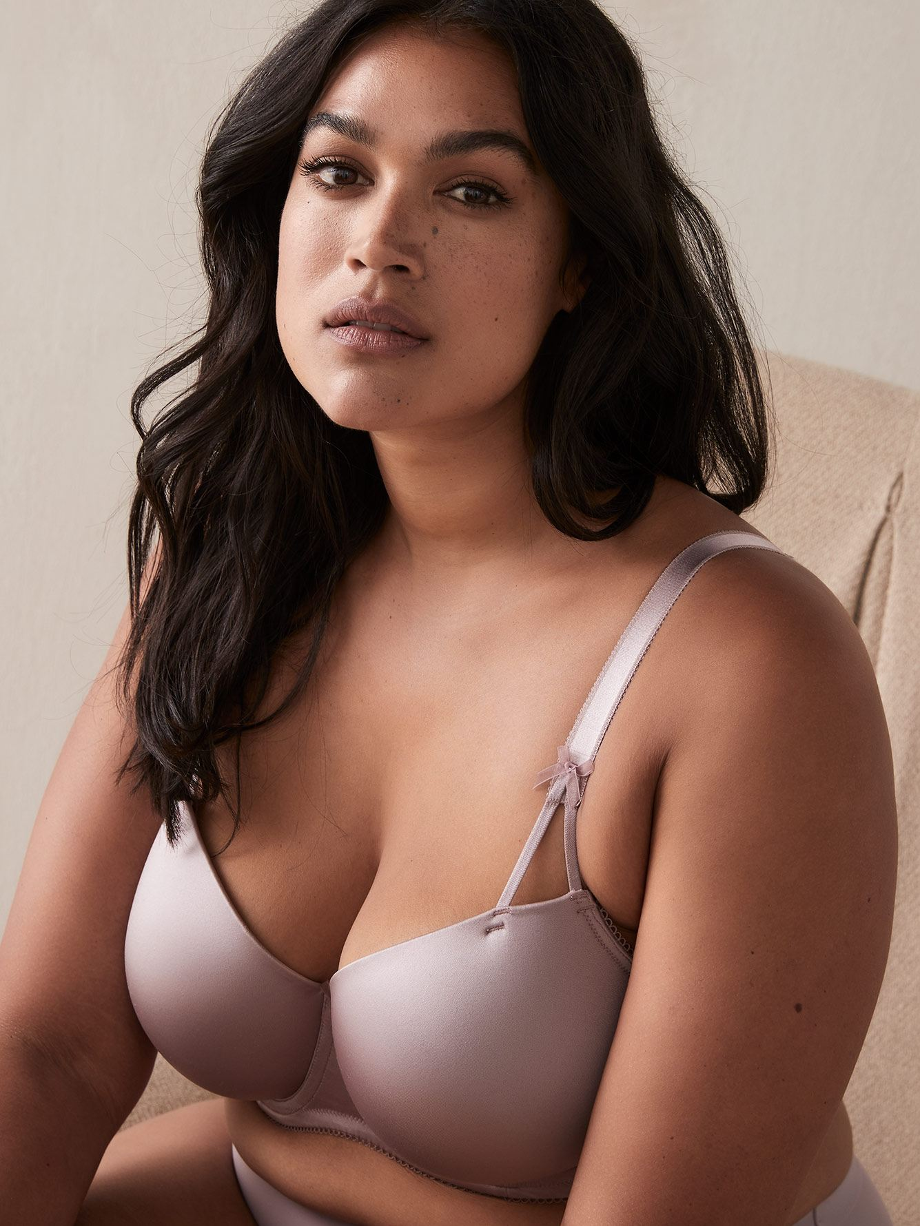 Solid Balconette Bra with 3 Bows