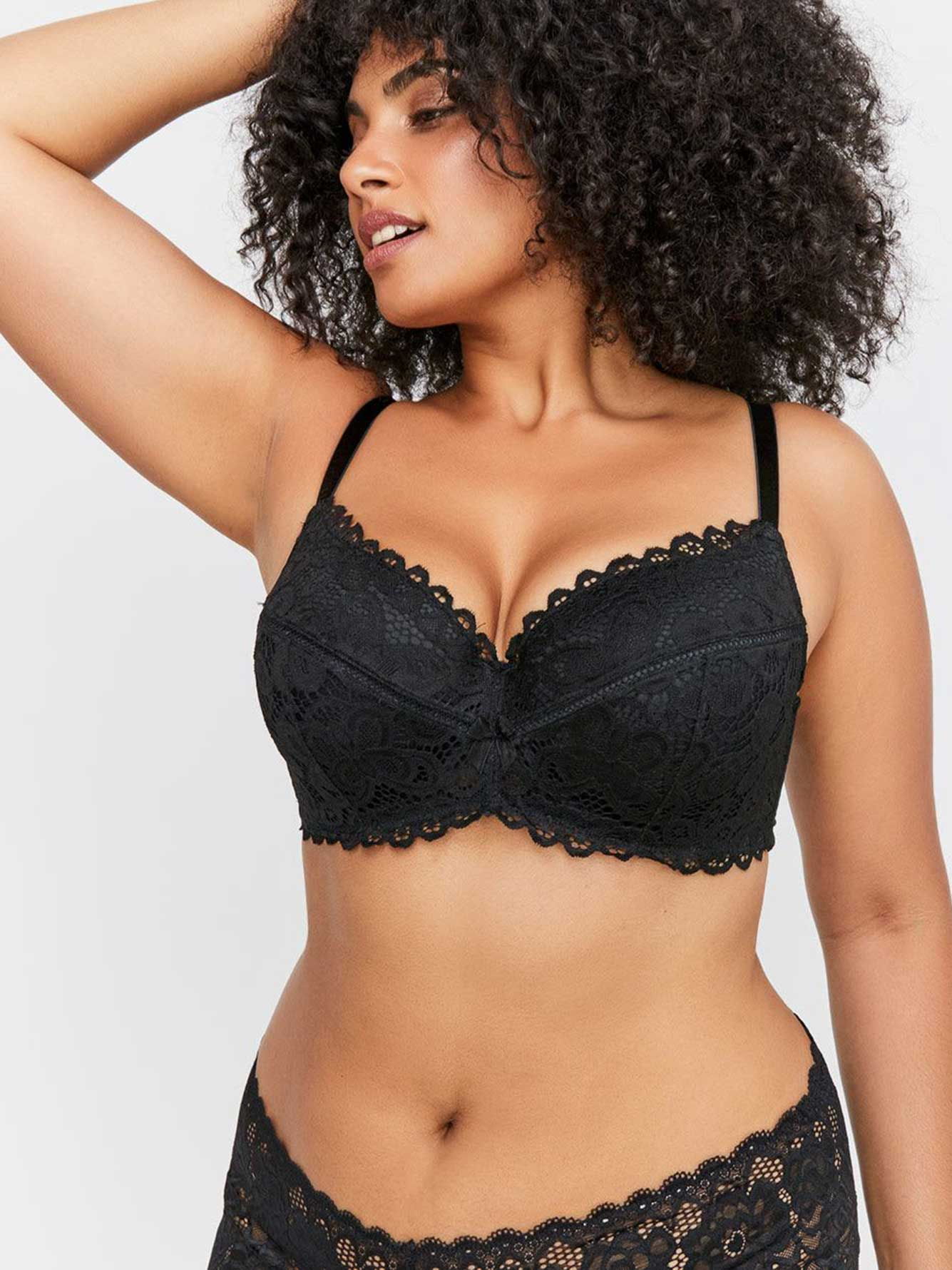Lace Contour Flirt Padded Underwire Bra - Déesse Collection