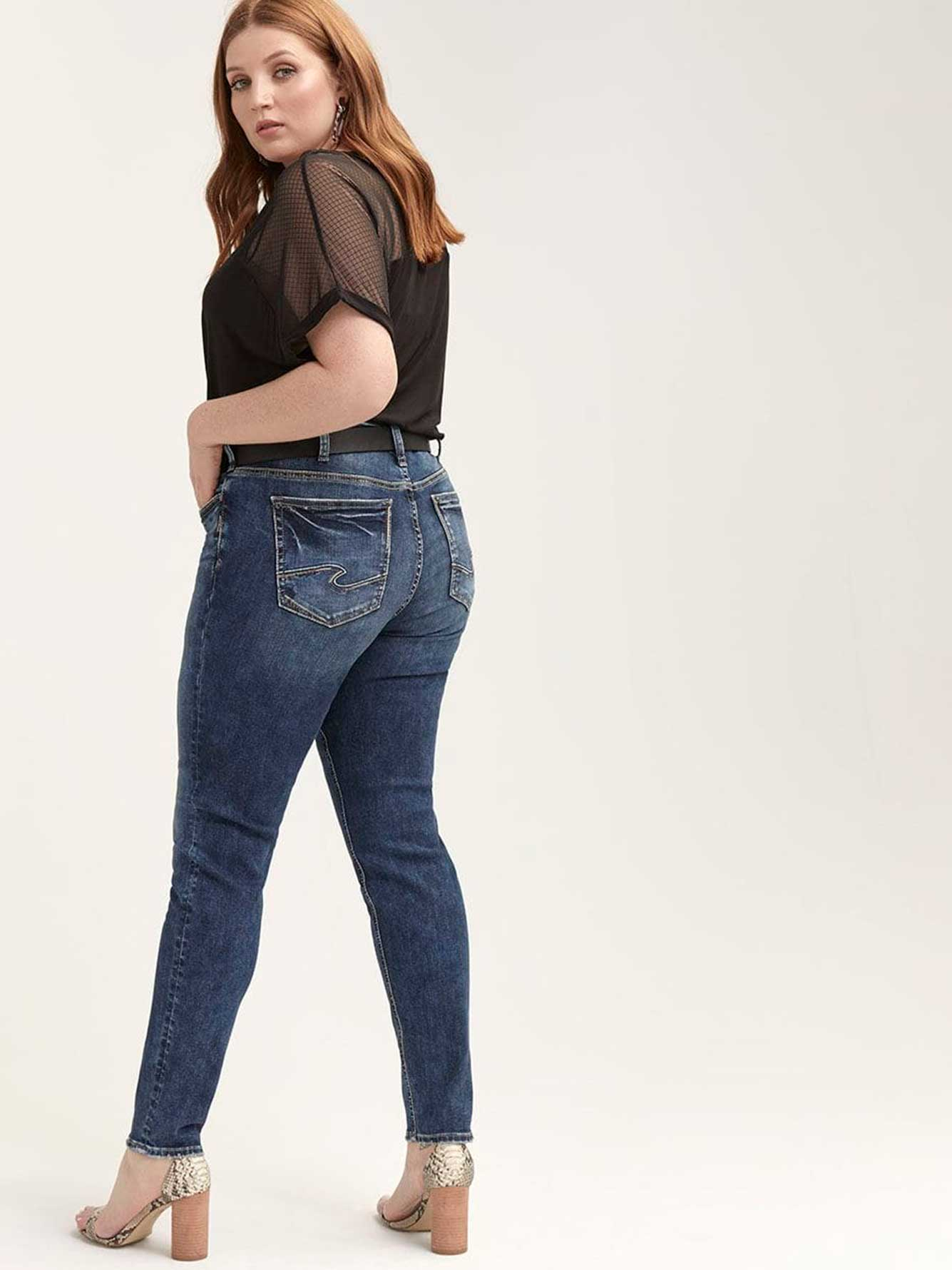 Elyse Skinny Jeans - Silver Jeans