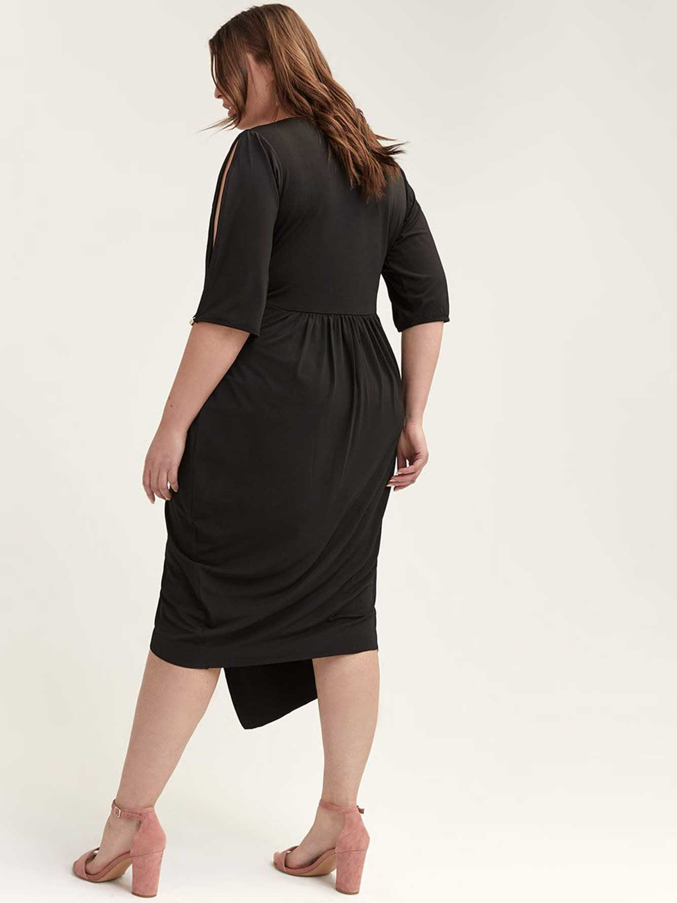 Asymmetrical Wrap Dress - City Chic