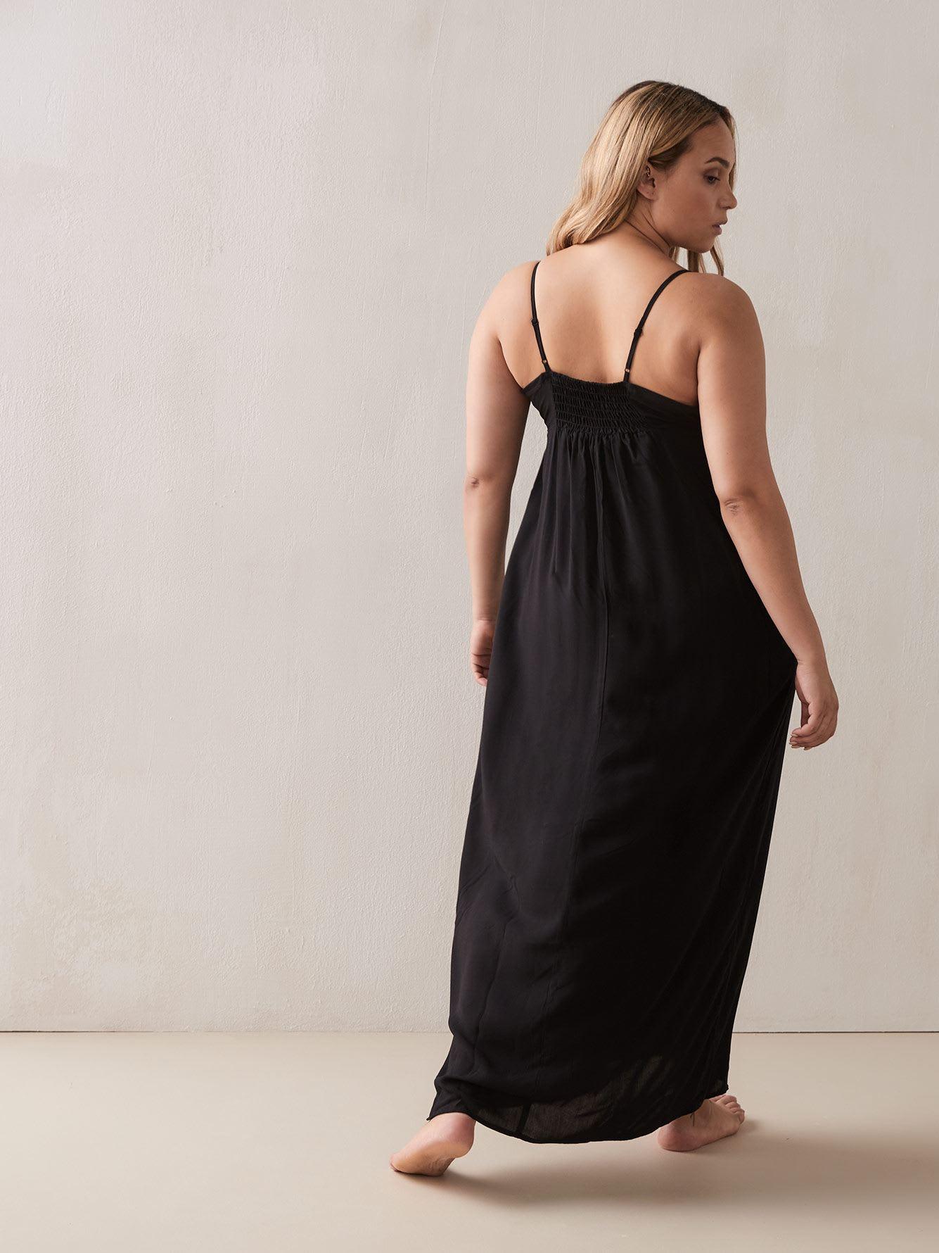 Black Maxi Beachwear Dress