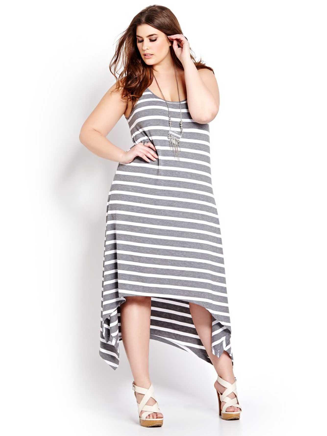 Maxi Sleeveless Dress with Lace Cutout