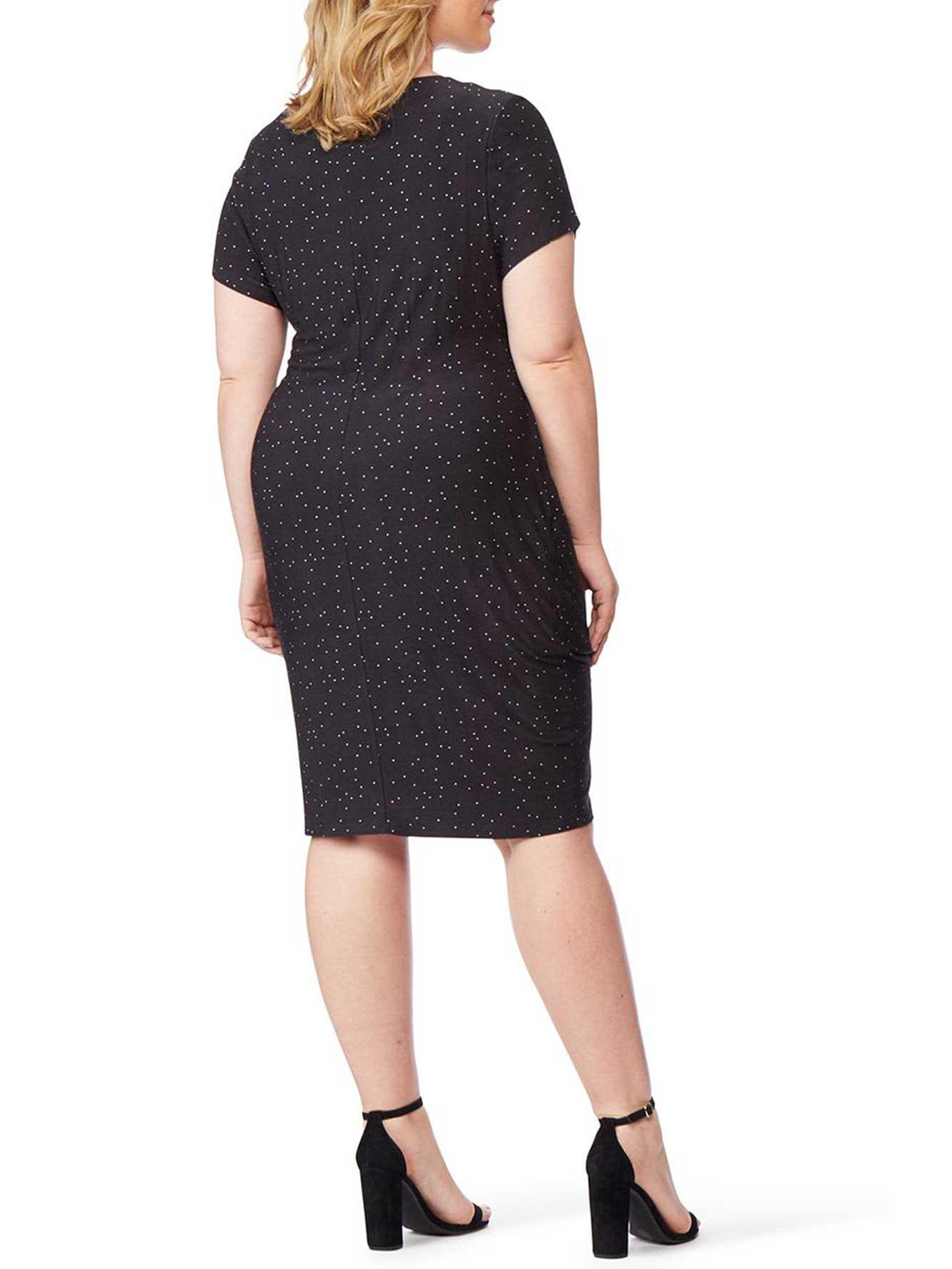Fitted Faux-Wrap Dress - Rebel Wilson