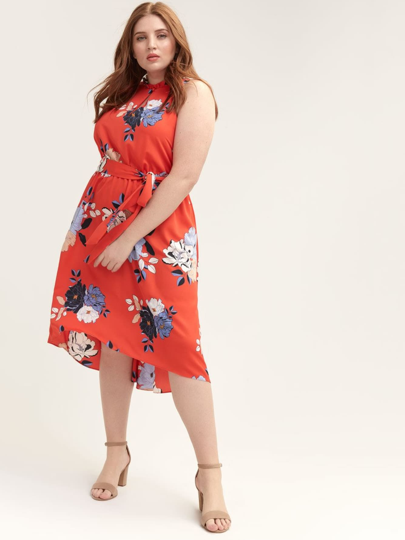 High-Low Concetta Floral Dress - RACHEL Rachel Roy