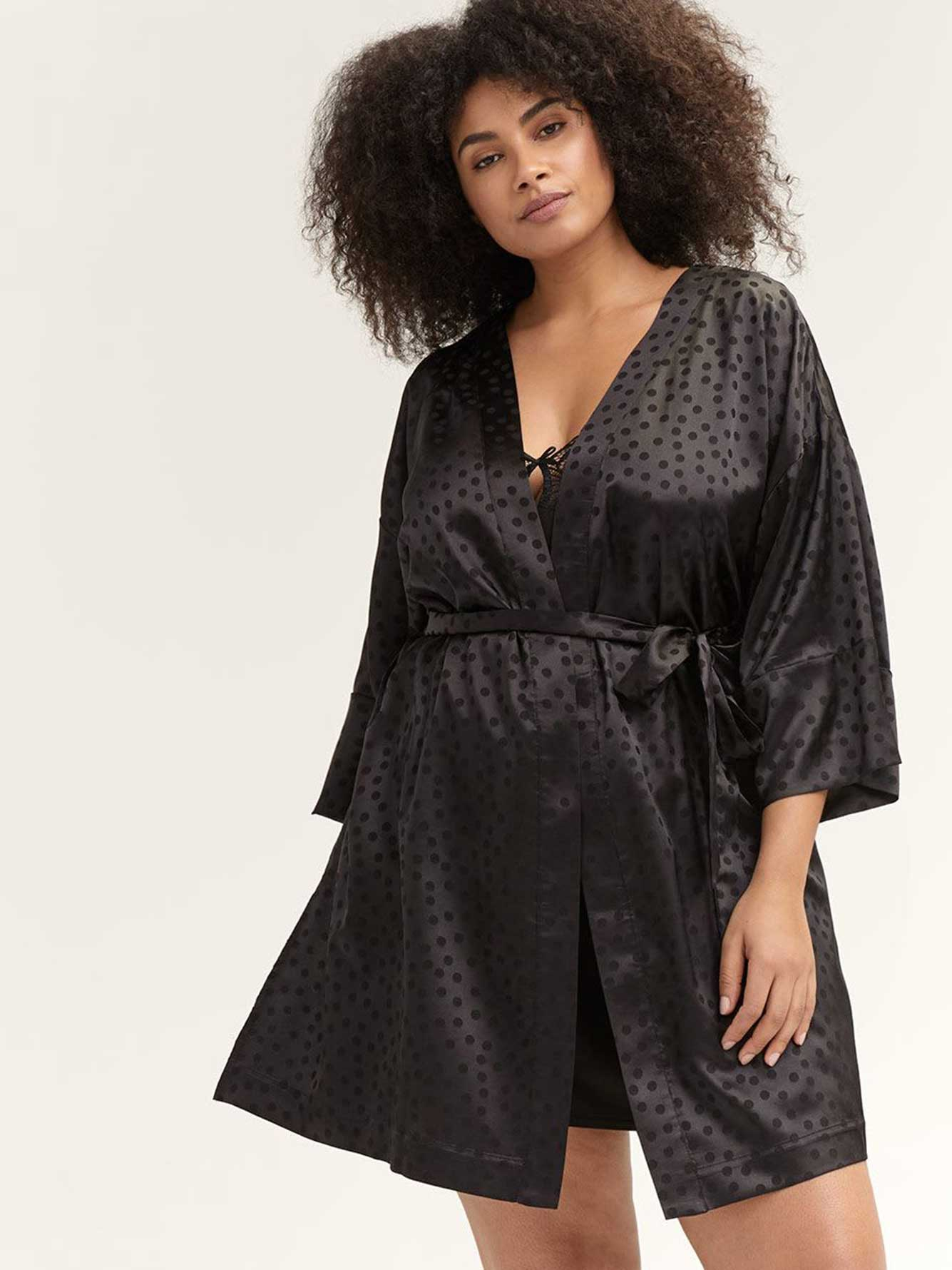 Printed Lounge Kimono - Ashley Graham