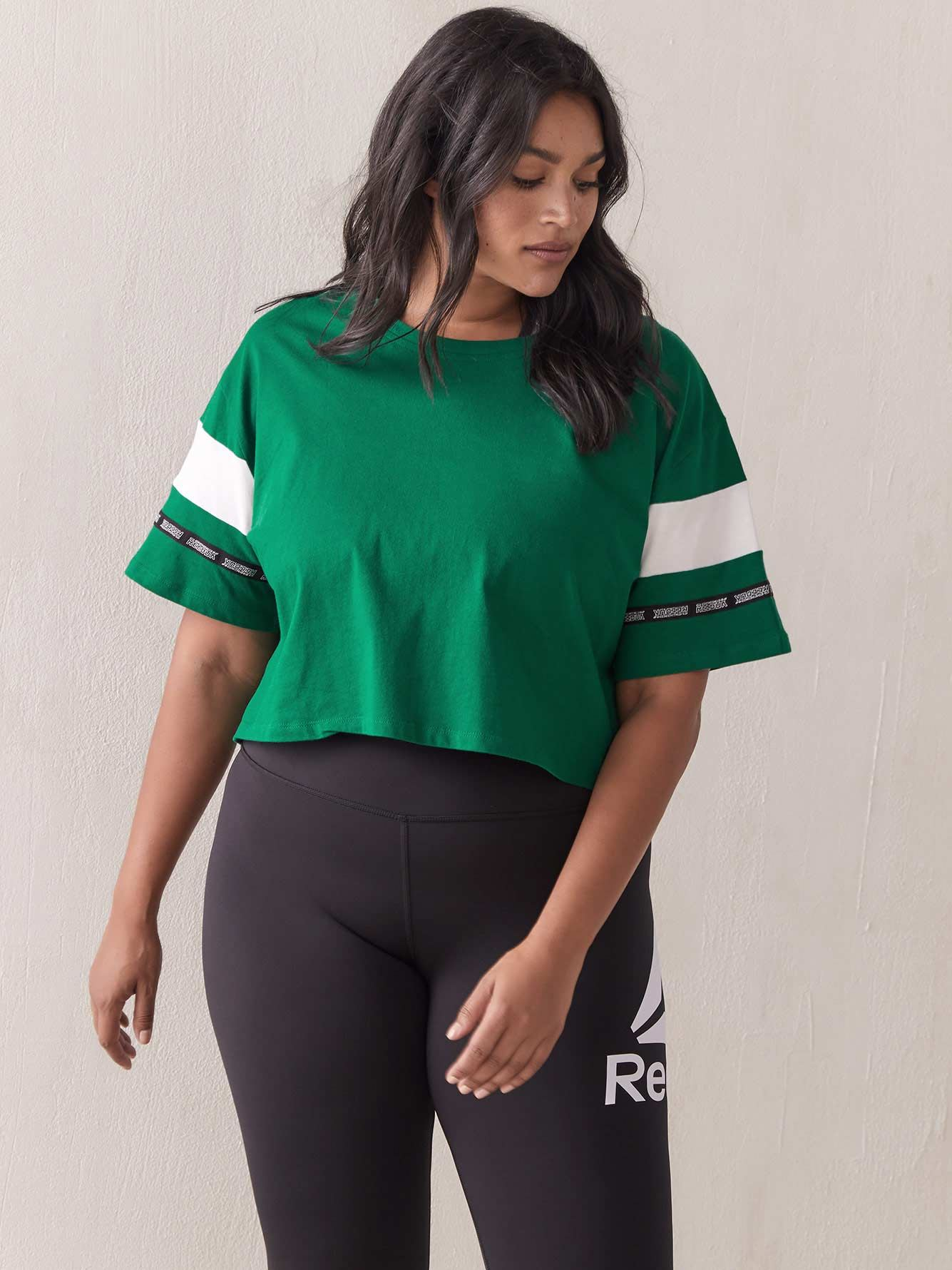 WOR MYT Cropped Green T-Shirt - Reebok