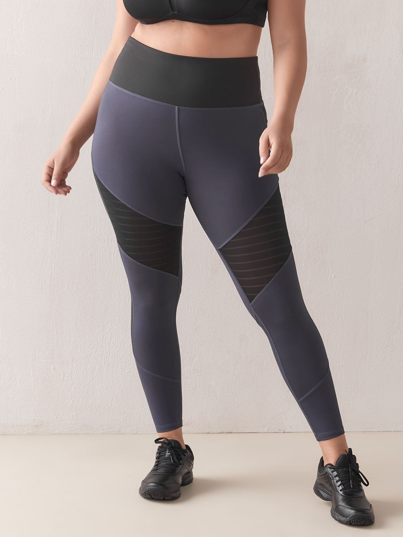 High-Rise Mesh Legging - Reebok