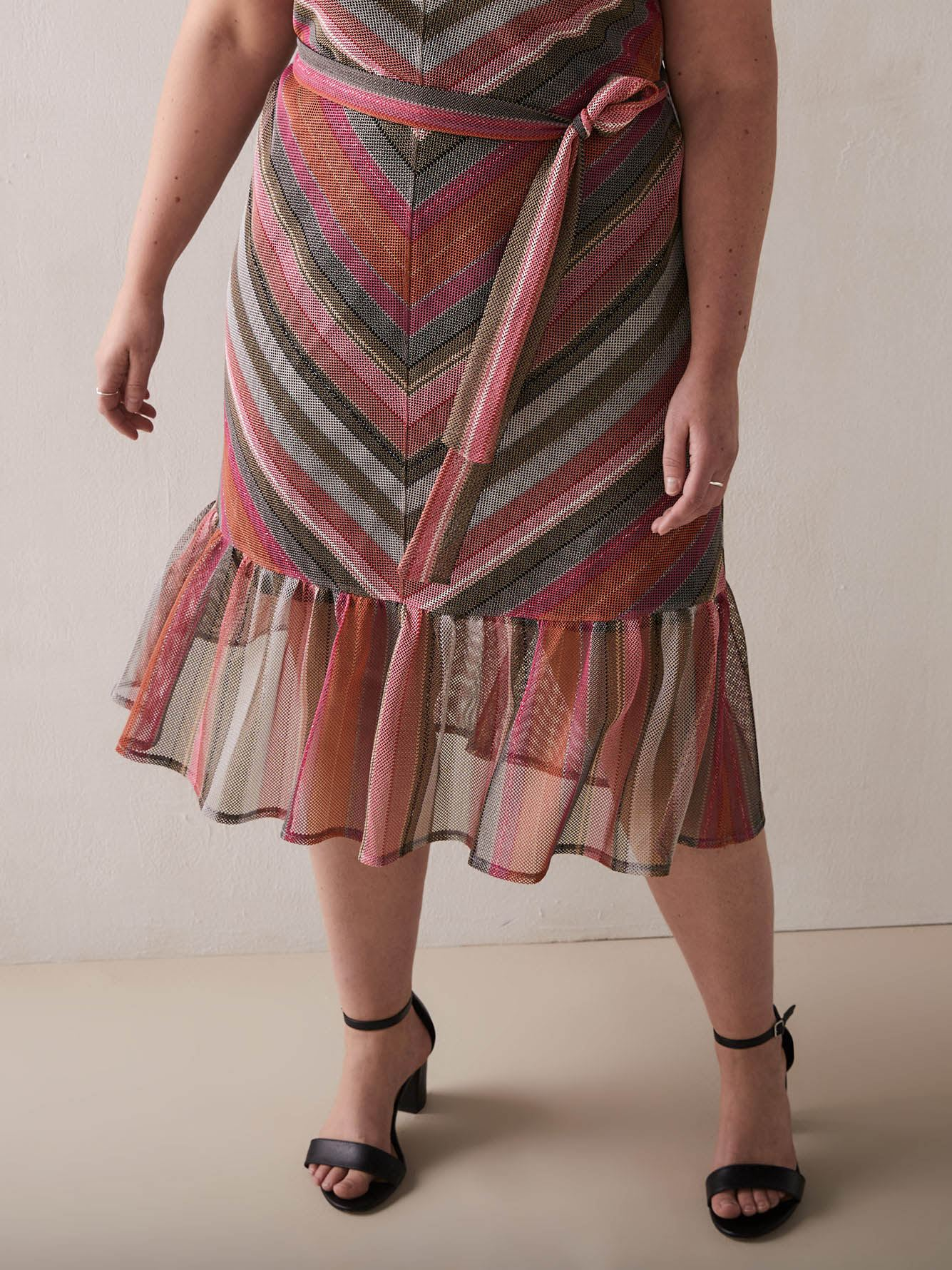 RACHEL Rachel Roy - Finn Chevron Maxi Dress