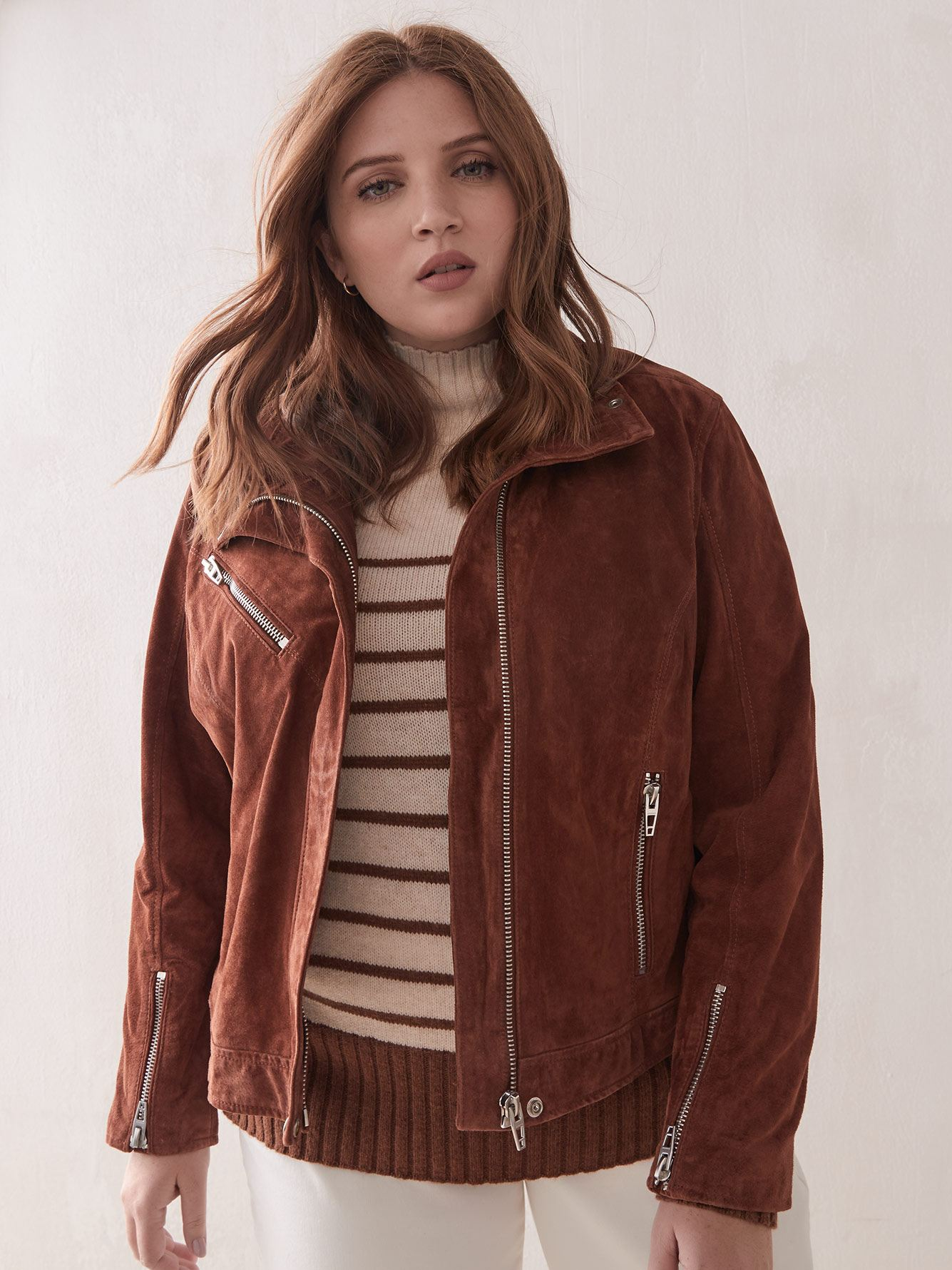 Suede Moto Jacket - Blank NYC