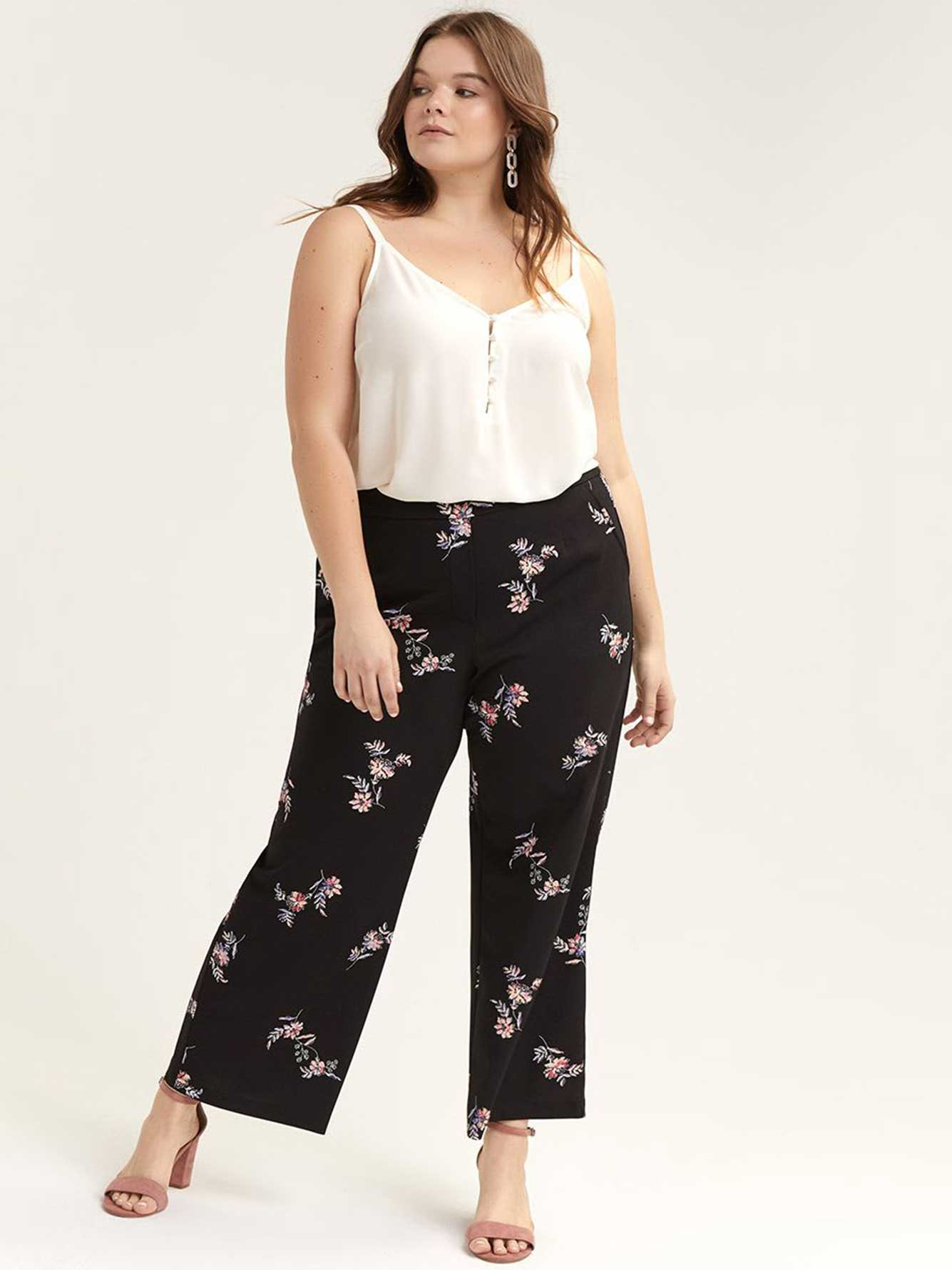 Pull-On Wide-Leg Ankle Pant - Michel Studio