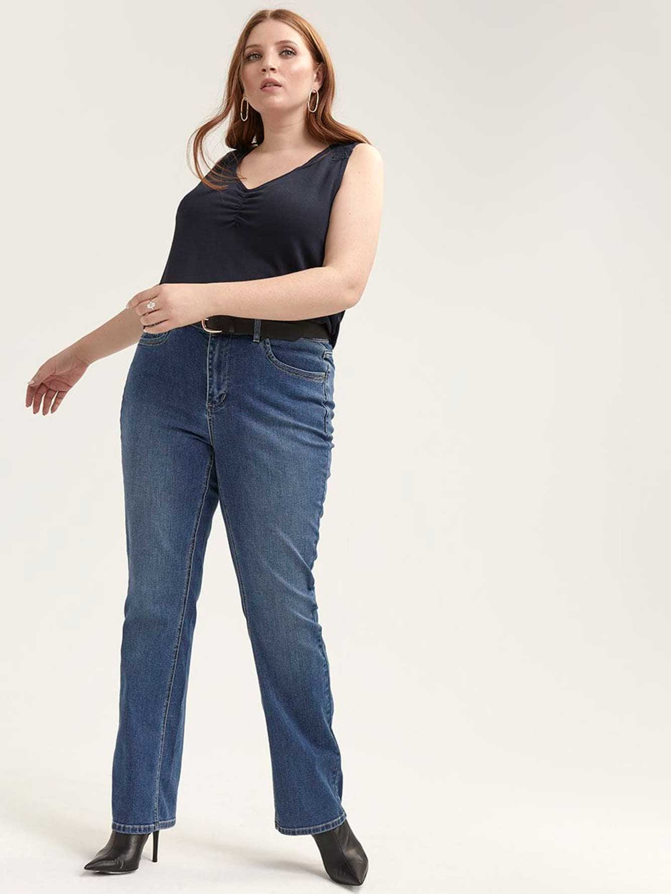 Barely Bootcut Clean Medium Wash Jeans