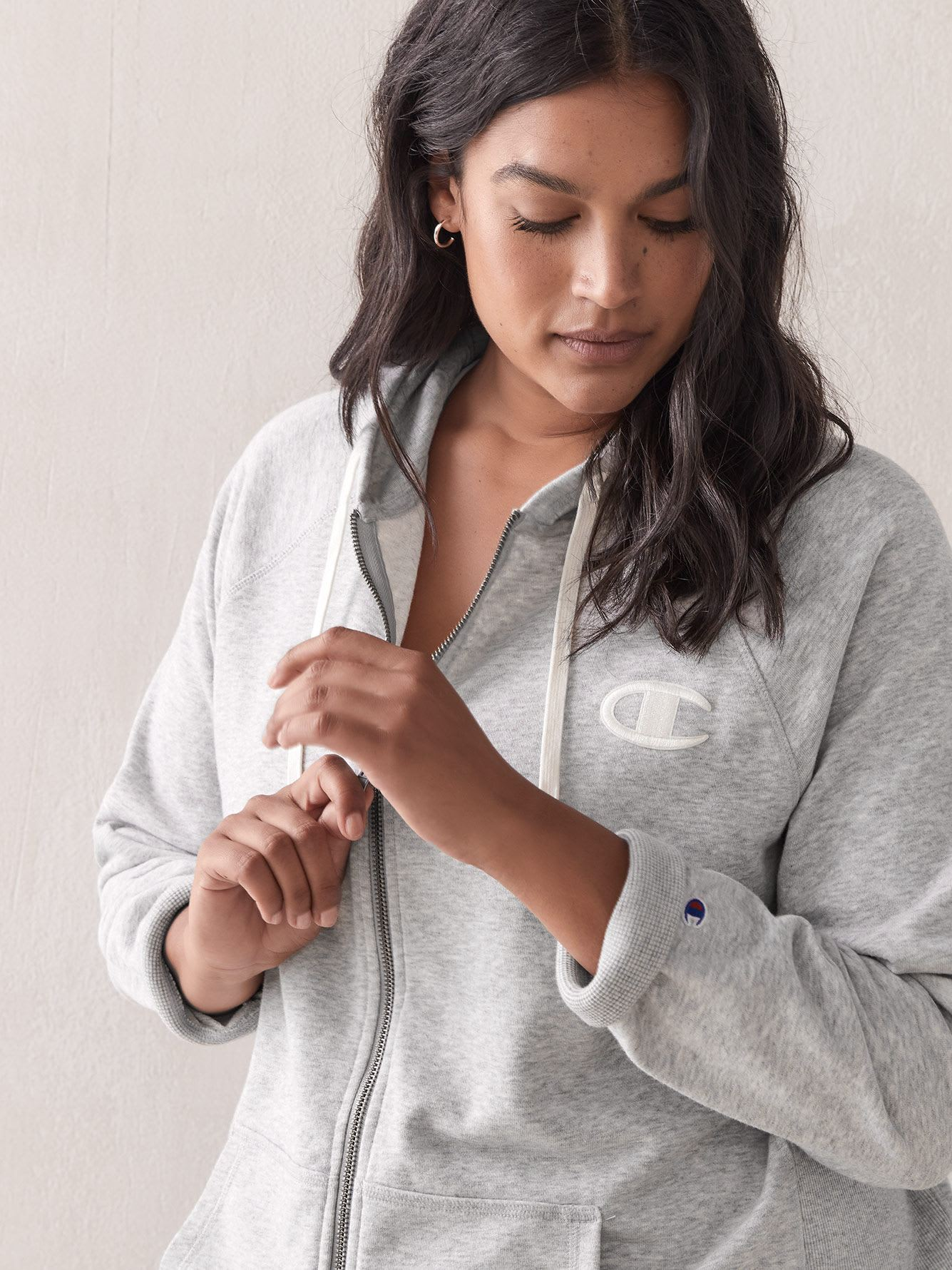 French Terry Zip-Up Hoodie - Champion