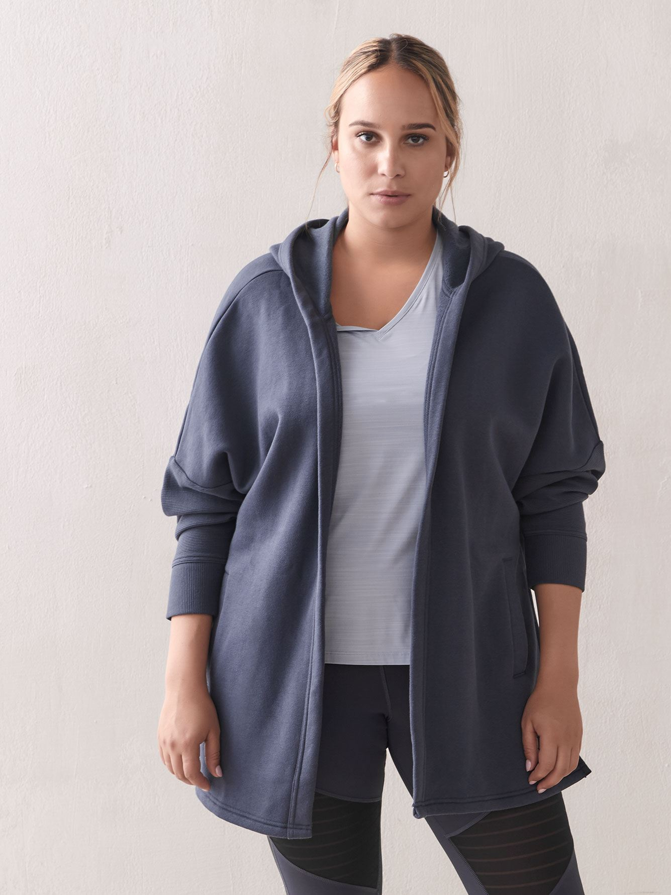 Hooded Open Cardigan - Reebok